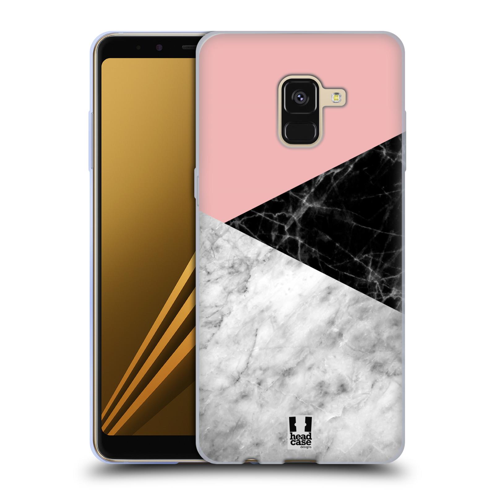 Silikonové pouzdro na mobil Samsung Galaxy A8 (2018) - Head Case - Mramor mix