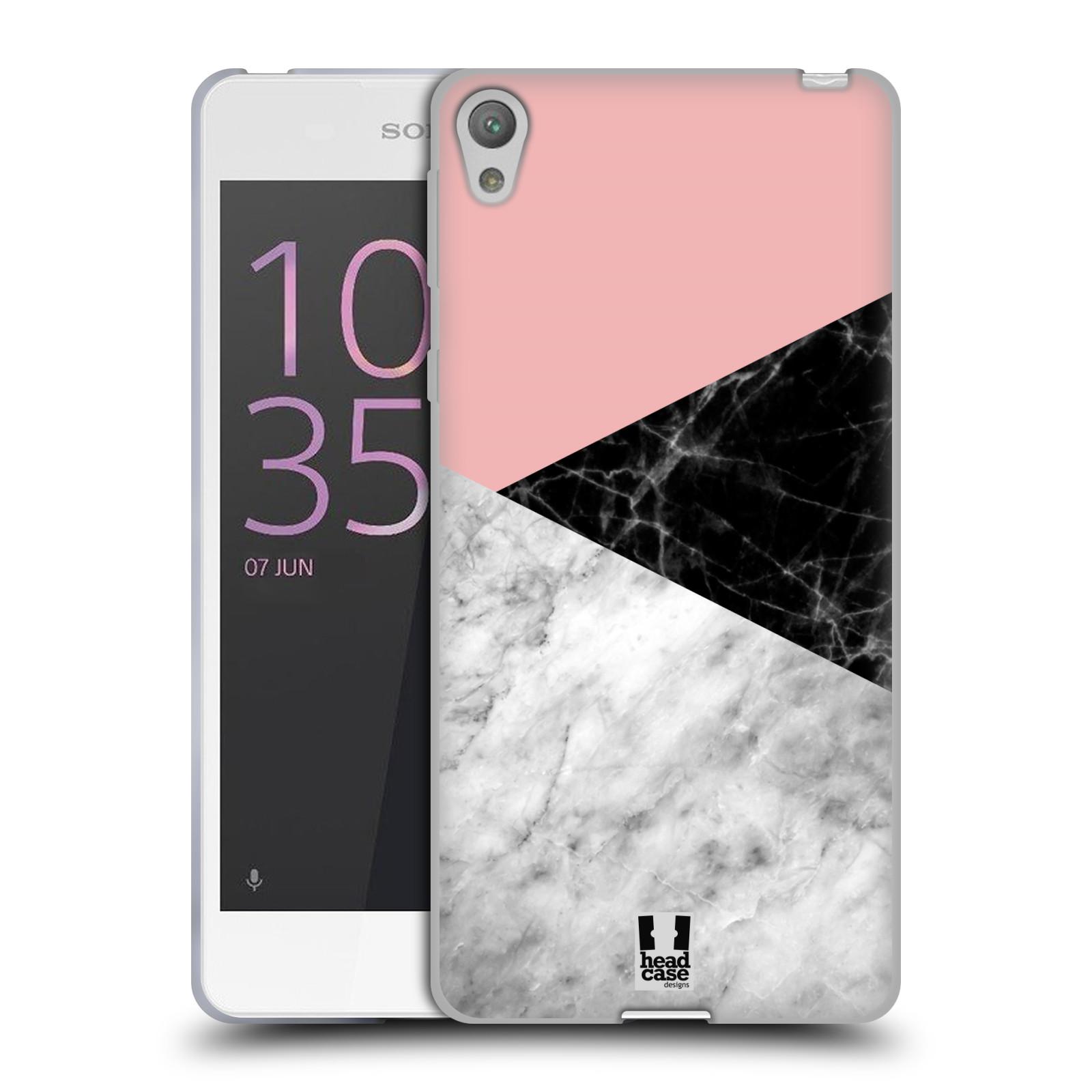 Silikonové pouzdro na mobil Sony Xperia E5 - Head Case - Mramor mix