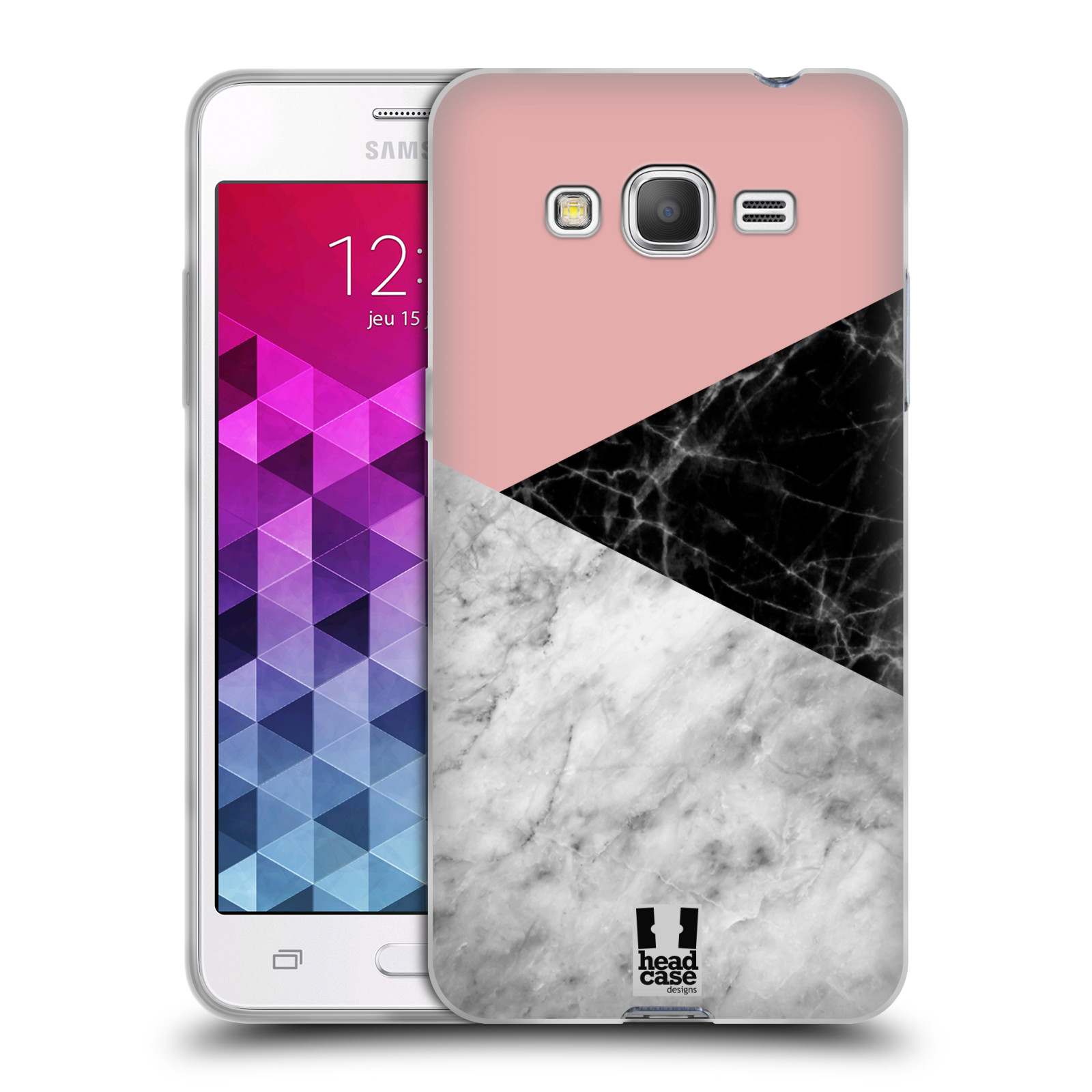 Silikonové pouzdro na mobil Samsung Galaxy Grand Prime VE - Head Case - Mramor mix