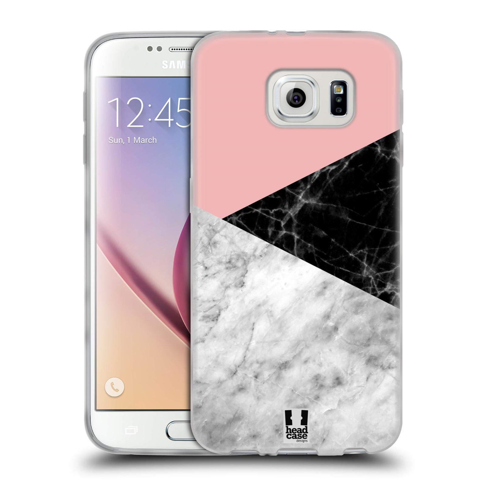 Silikonové pouzdro na mobil Samsung Galaxy S6 - Head Case - Mramor mix
