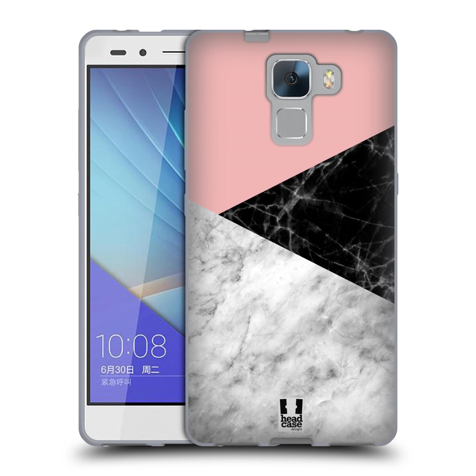 Silikonové pouzdro na mobil Honor 7 - Head Case - Mramor mix