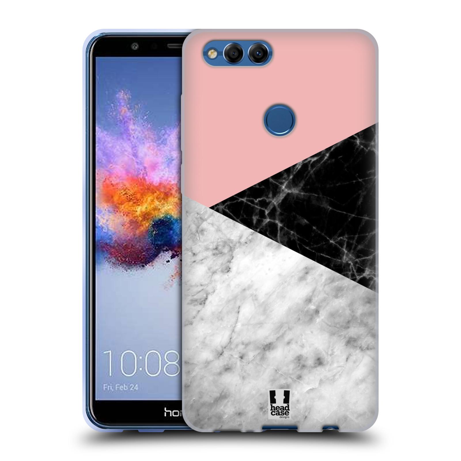 Silikonové pouzdro na mobil Honor 7X - Head Case - Mramor mix