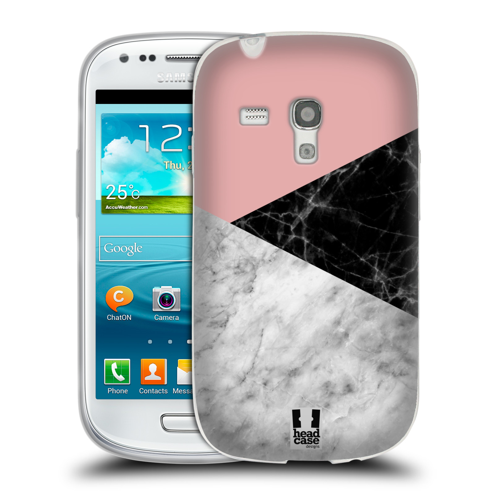 Silikonové pouzdro na mobil Samsung Galaxy S3 Mini VE - Head Case - Mramor mix