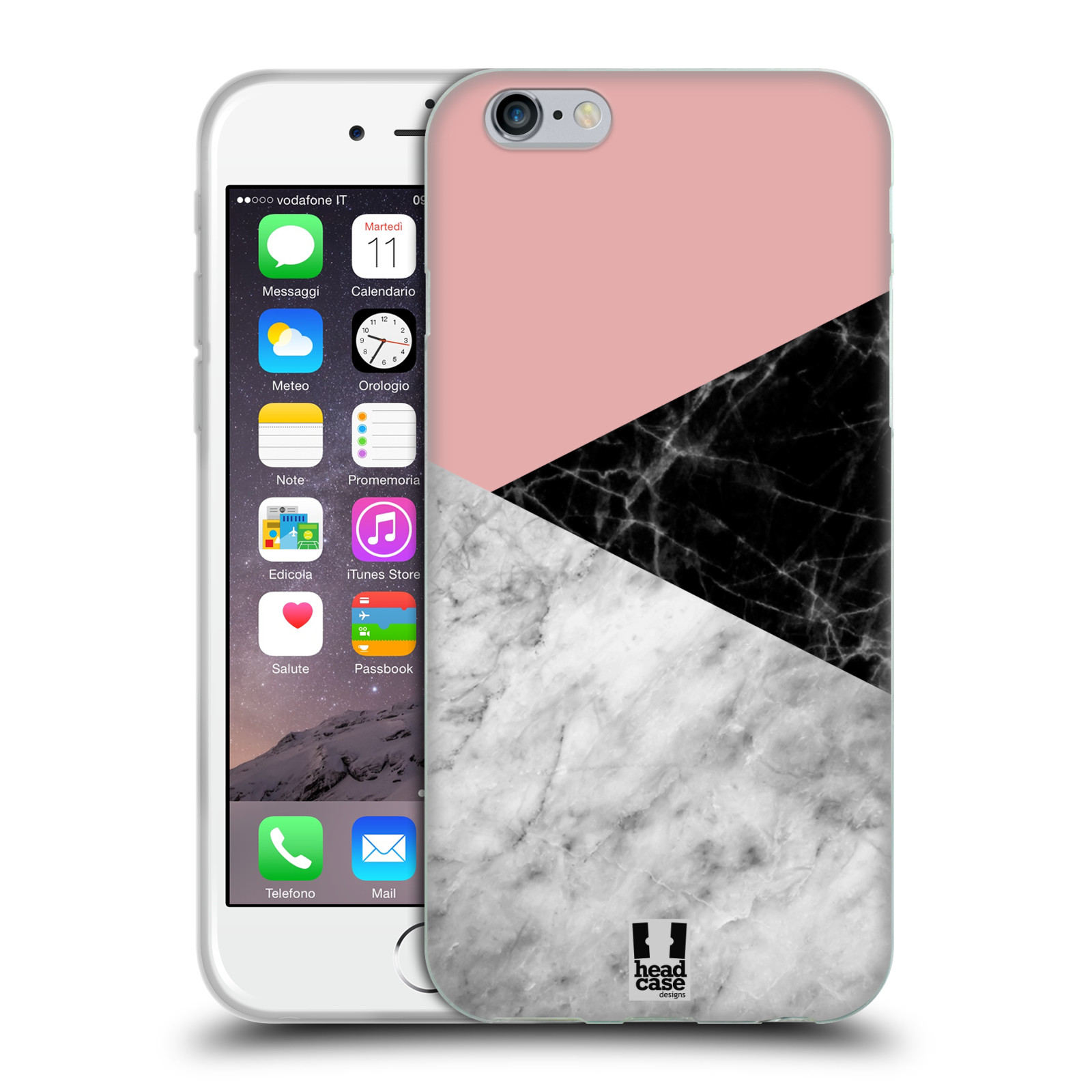 Silikonové pouzdro na mobil Apple iPhone 6 - Head Case - Mramor mix