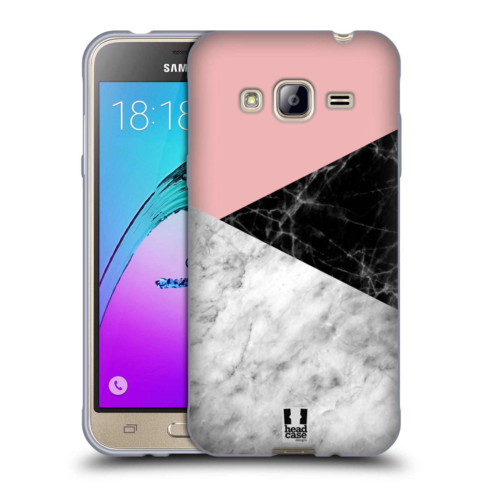 Silikonové pouzdro na mobil Samsung Galaxy J3 (2016) - Head Case - Mramor mix