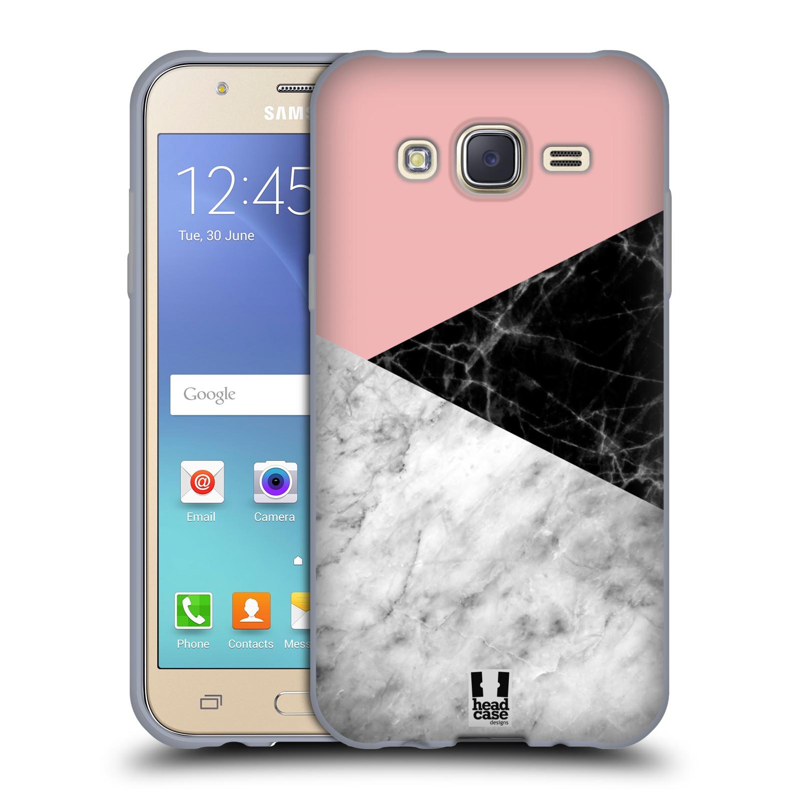 Silikonové pouzdro na mobil Samsung Galaxy J5 - Head Case - Mramor mix