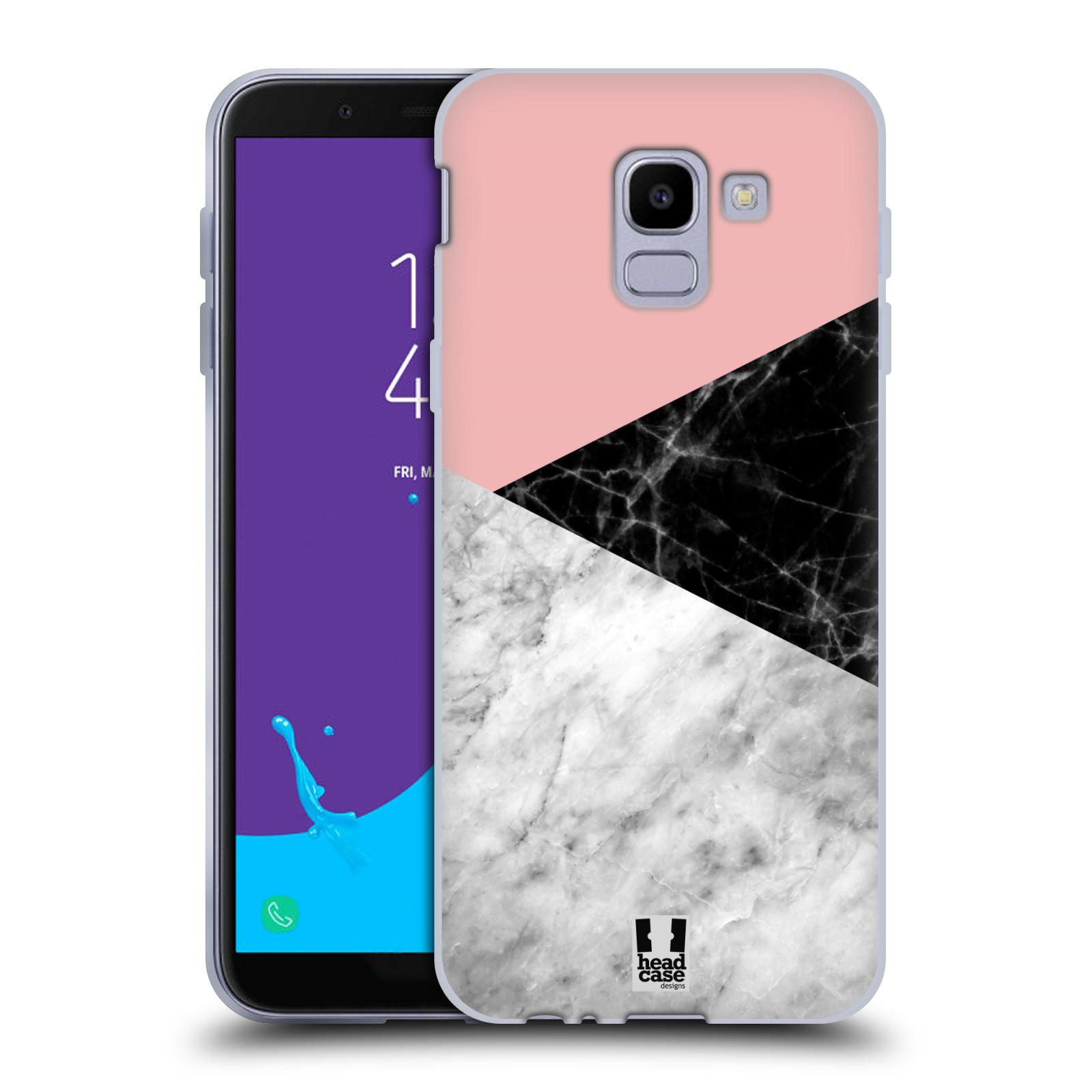 Silikonové pouzdro na mobil Samsung Galaxy J6 (2018) - Head Case - Mramor mix
