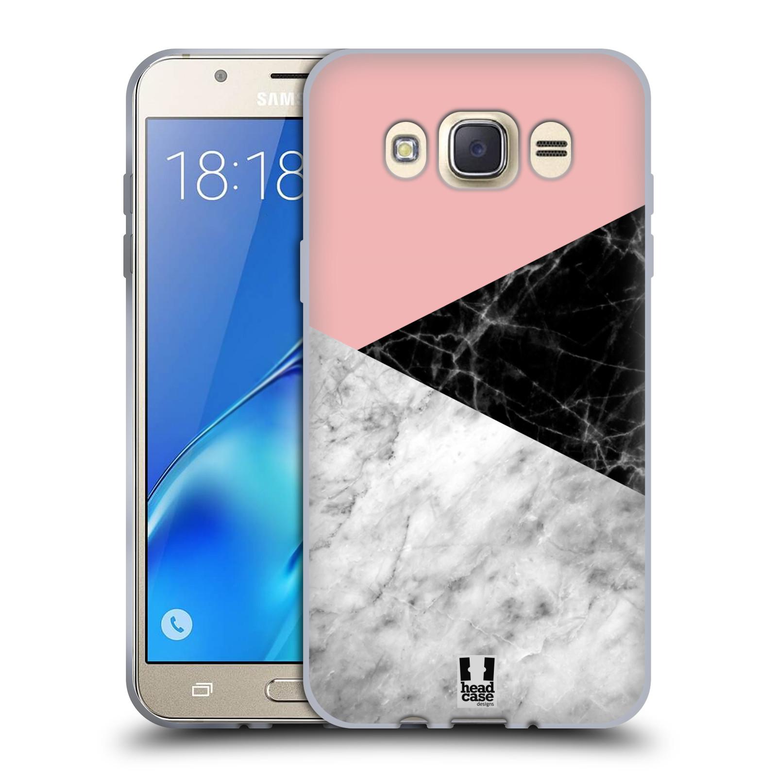 Silikonové pouzdro na mobil Samsung Galaxy J7 (2016) - Head Case - Mramor mix