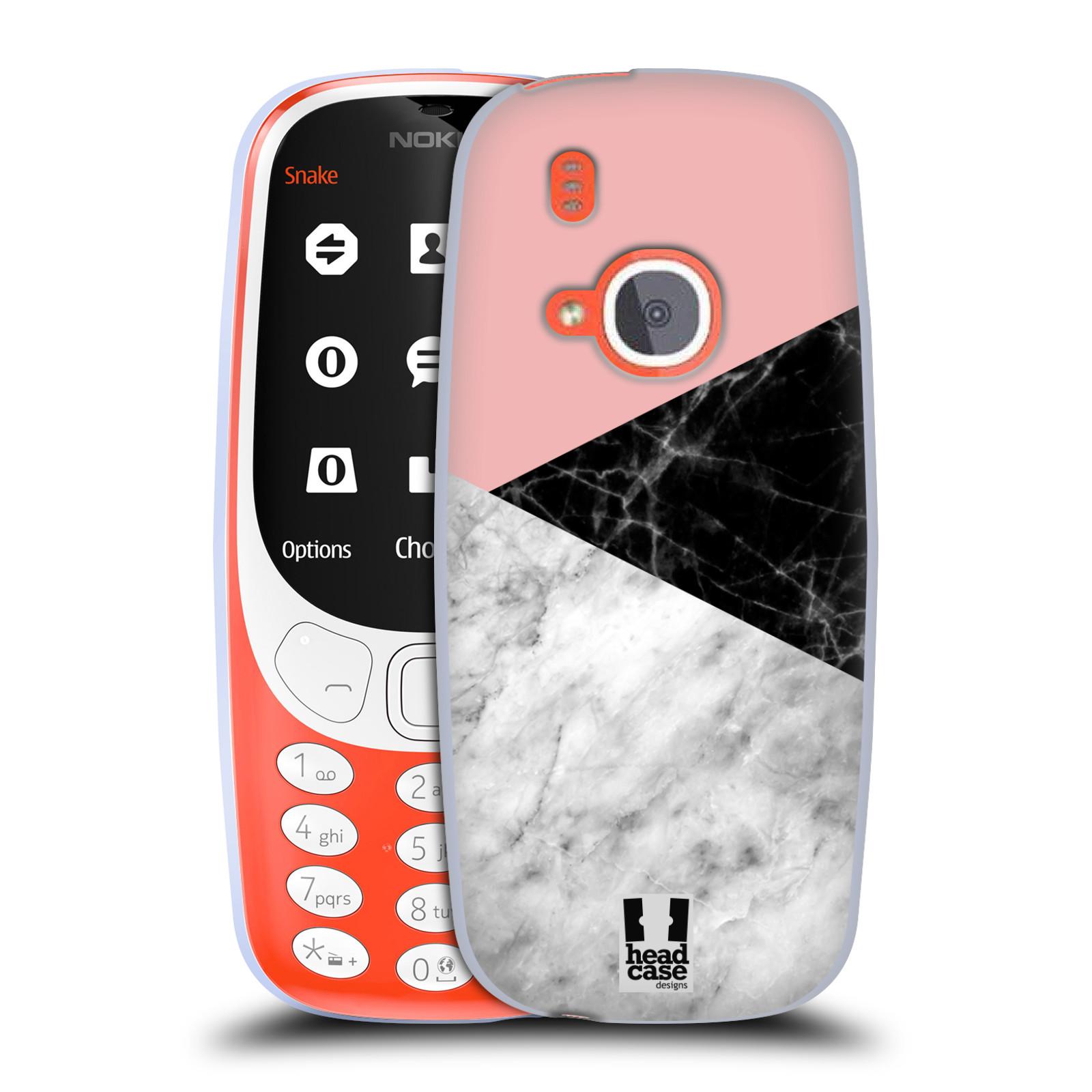 Silikonové pouzdro na mobil Nokia 3310 - Head Case - Mramor mix