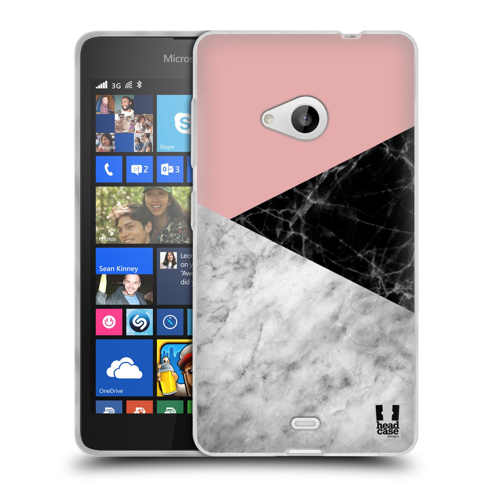 Silikonové pouzdro na mobil Microsoft Lumia 535 - Head Case - Mramor mix