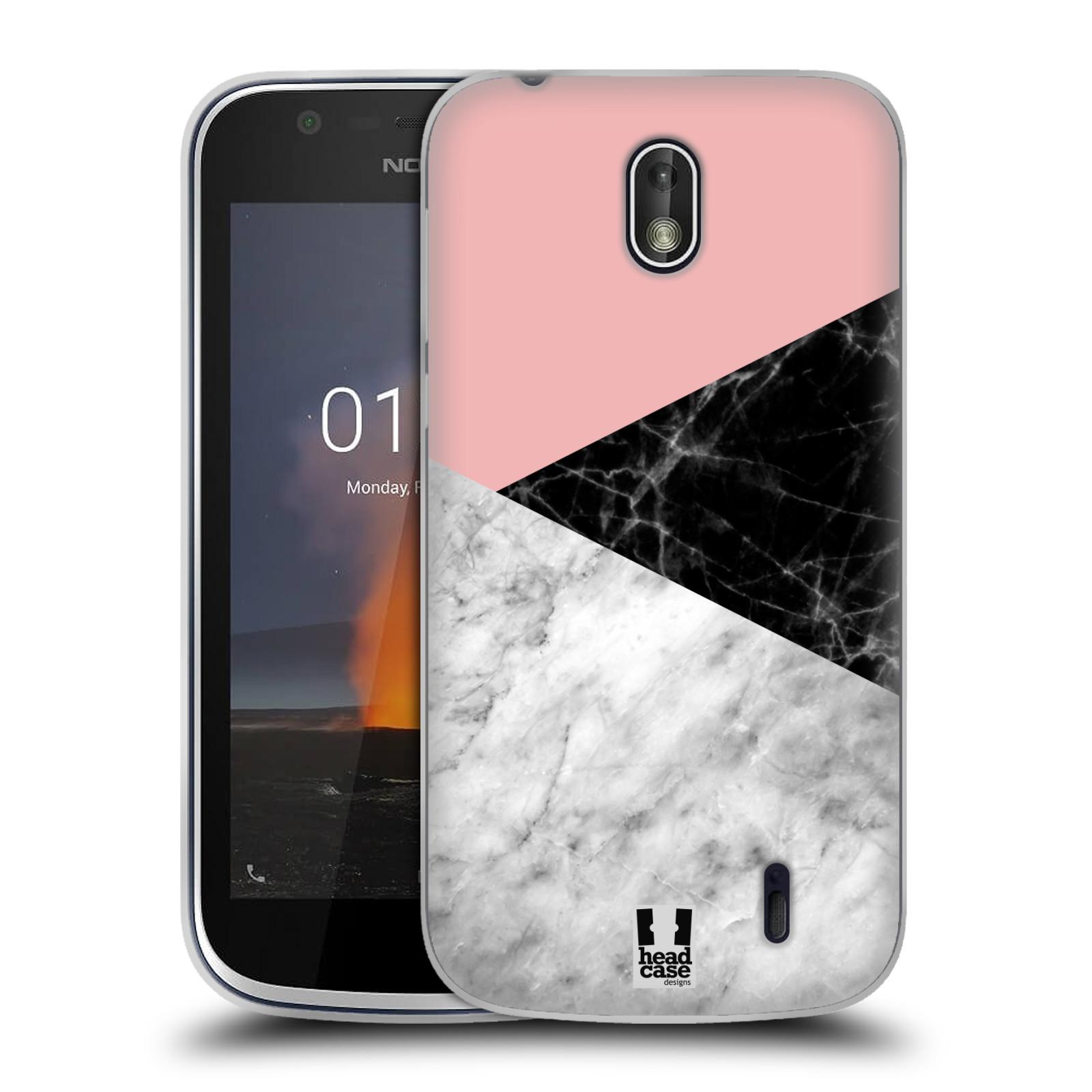 Silikonové pouzdro na mobil Nokia 1 - Head Case - Mramor mix