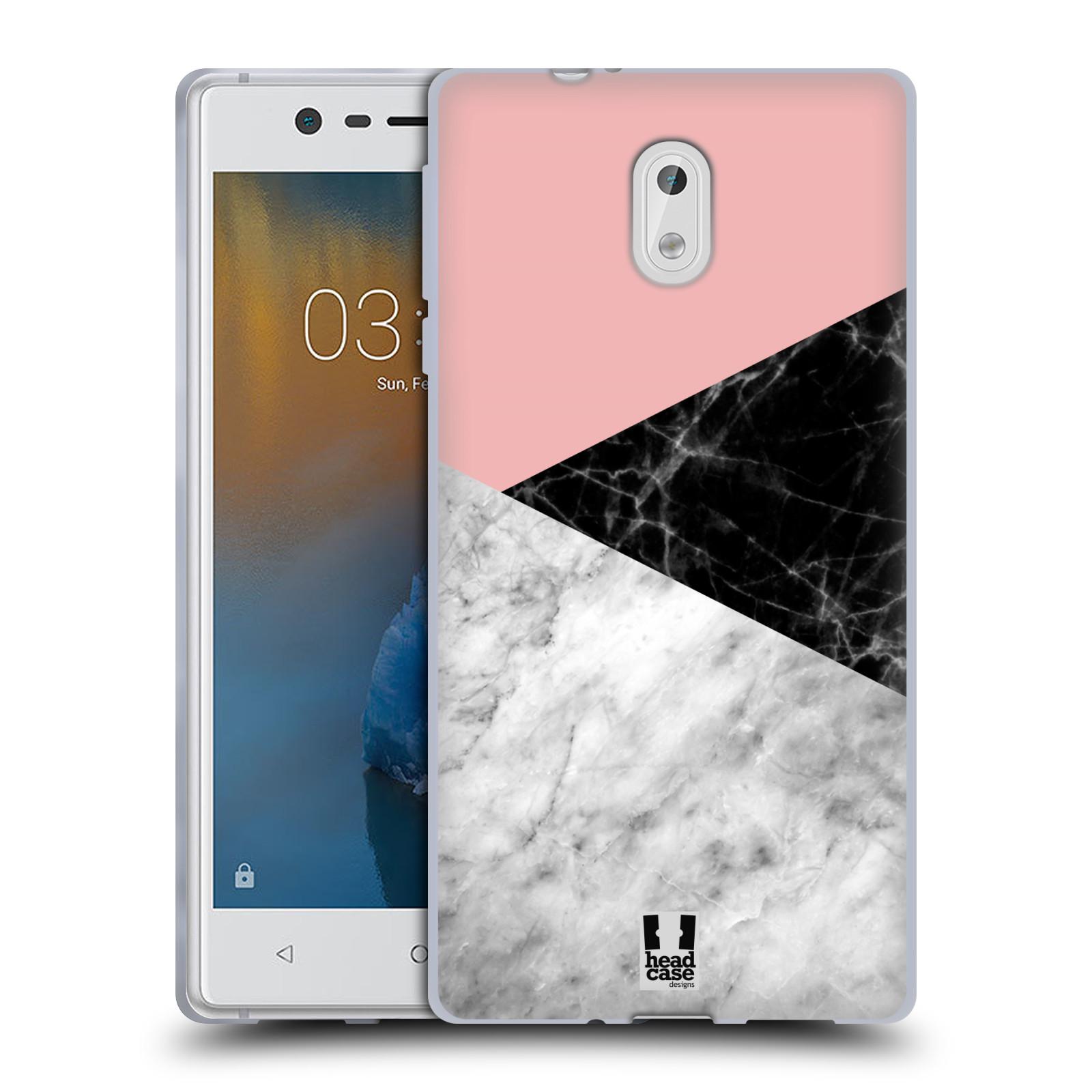 Silikonové pouzdro na mobil Nokia 3 Head Case - Mramor mix