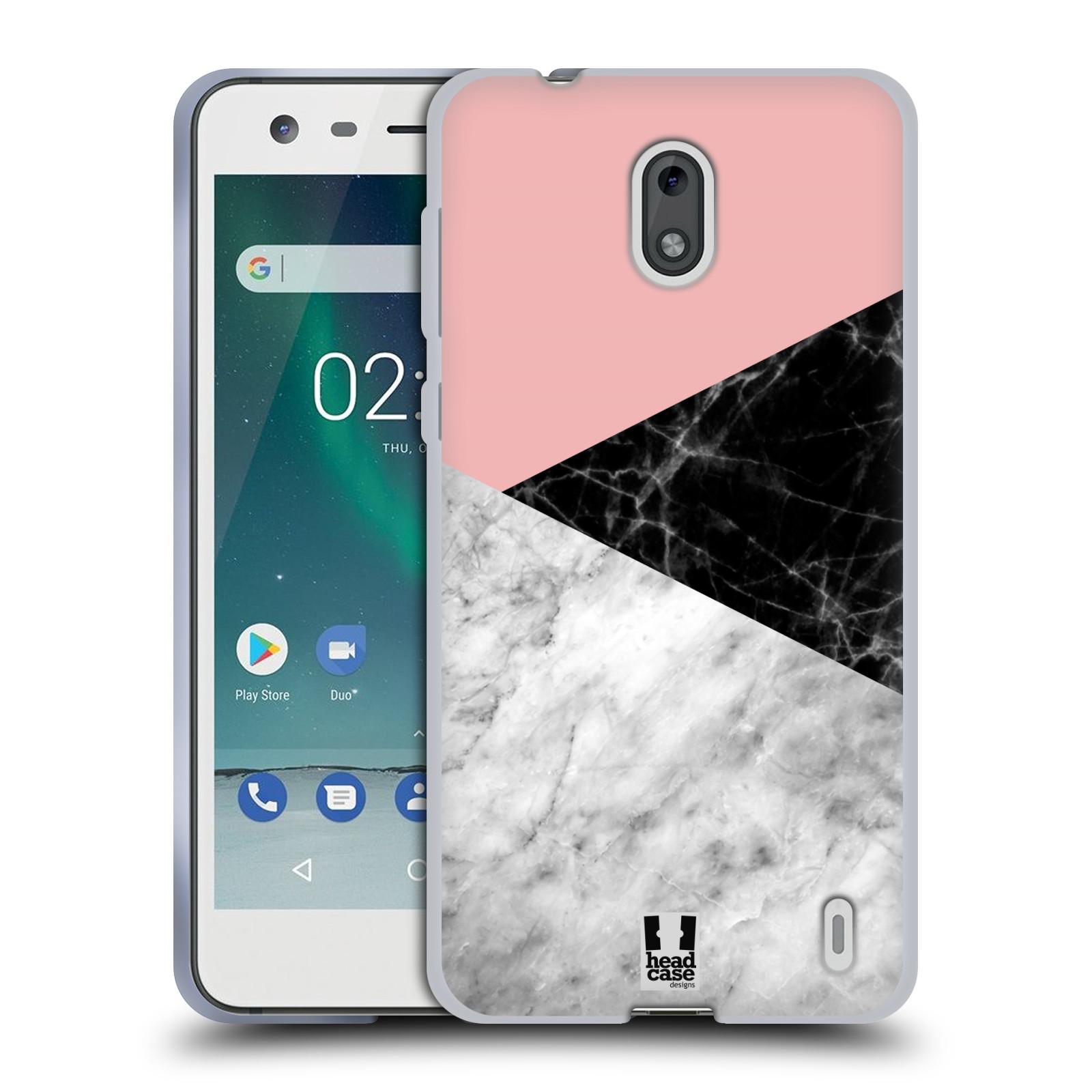 Silikonové pouzdro na mobil Nokia 2 - Head Case - Mramor mix