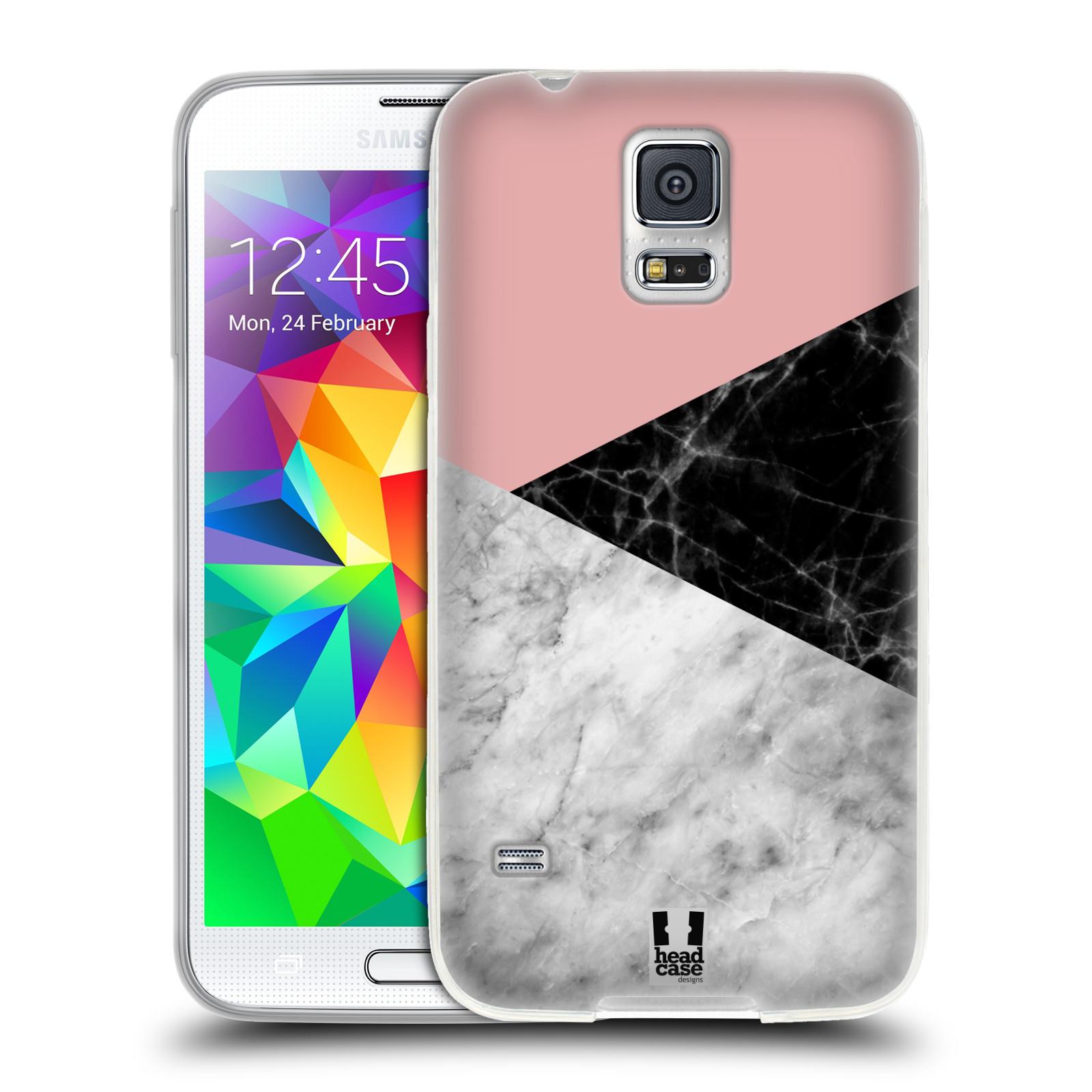 Silikonové pouzdro na mobil Samsung Galaxy S5 - Head Case - Mramor mix