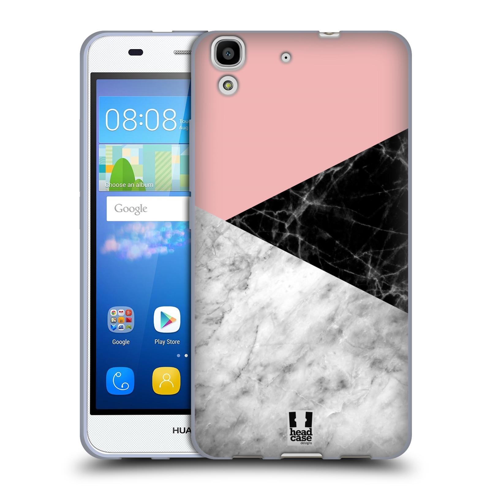 Silikonové pouzdro na mobil Huawei Y6 - Head Case - Mramor mix