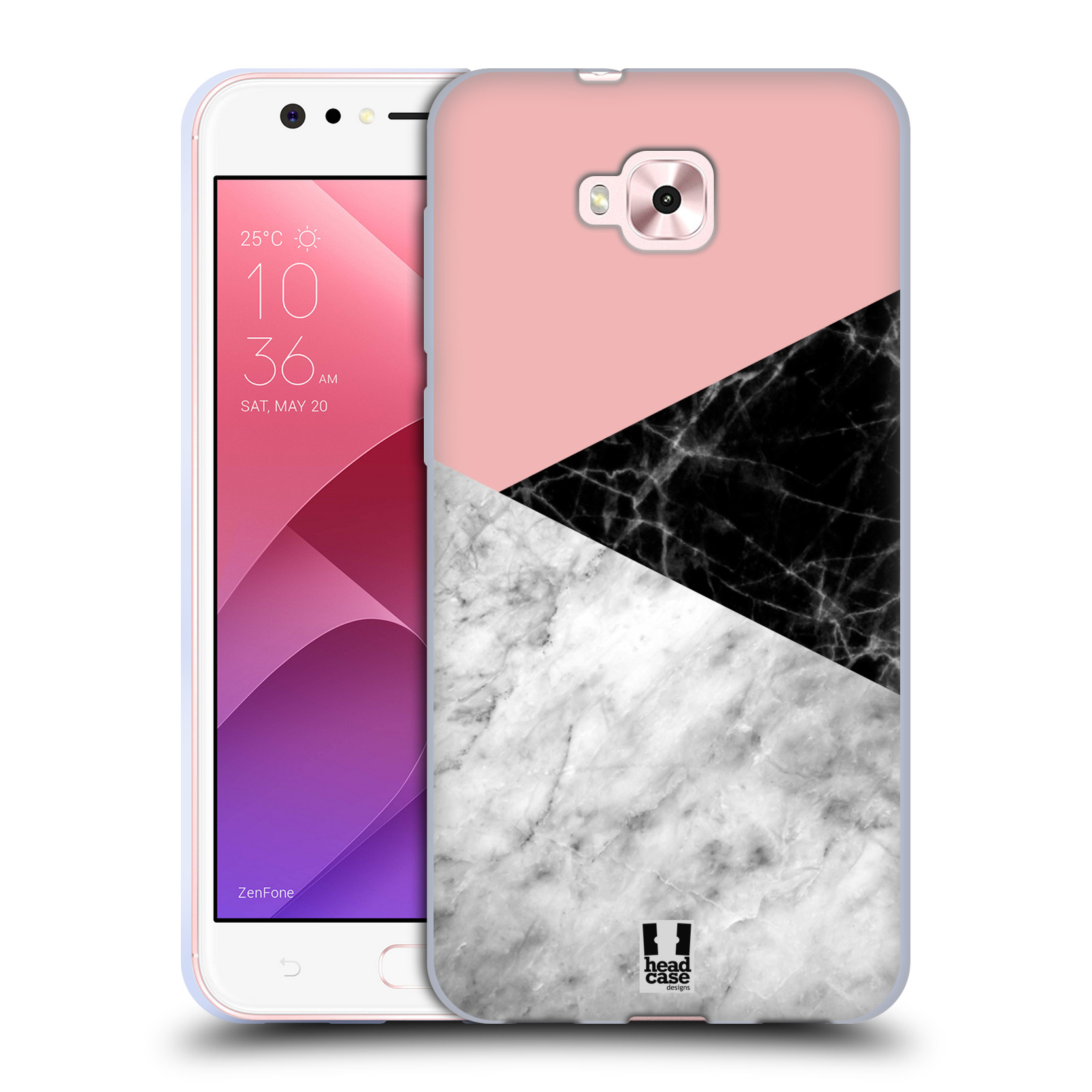 Silikonové pouzdro na mobil Asus Zenfone 4 Selfie ZD553KL - Head Case - Mramor mix