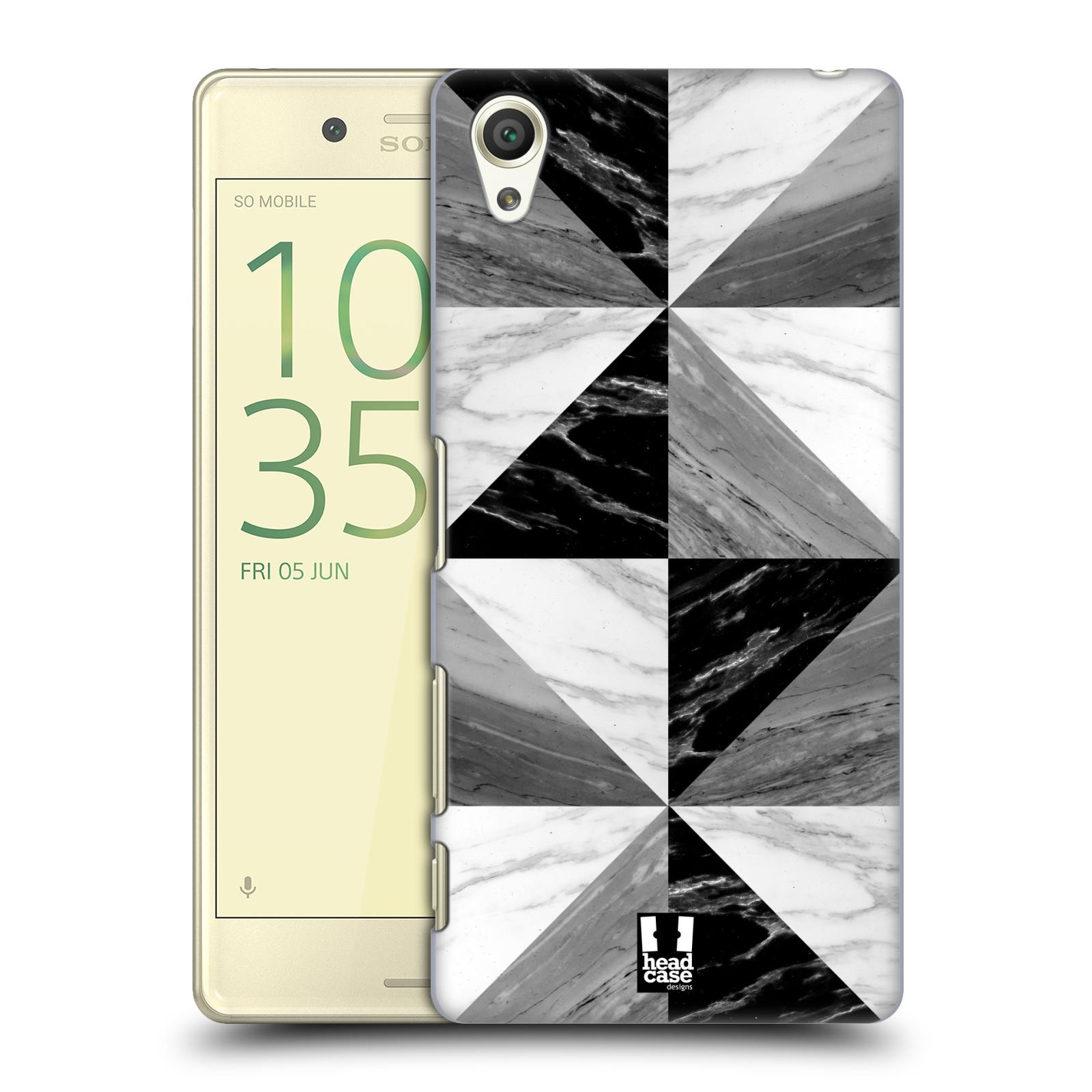 Plastové pouzdro na mobil Sony Xperia X - Head Case - Mramor triangl