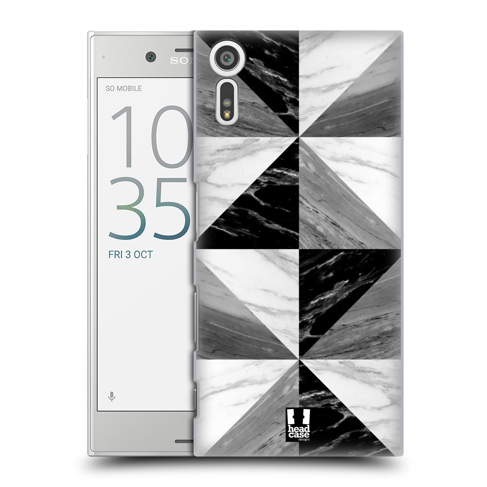 Plastové pouzdro na mobil Sony Xperia XZ - Head Case - Mramor triangl (Plastový kryt či obal na mobilní telefon s motivem Mramor triangl pro Sony Xperia XZ F8331 / Sony Xperia XZ Dual F8332)