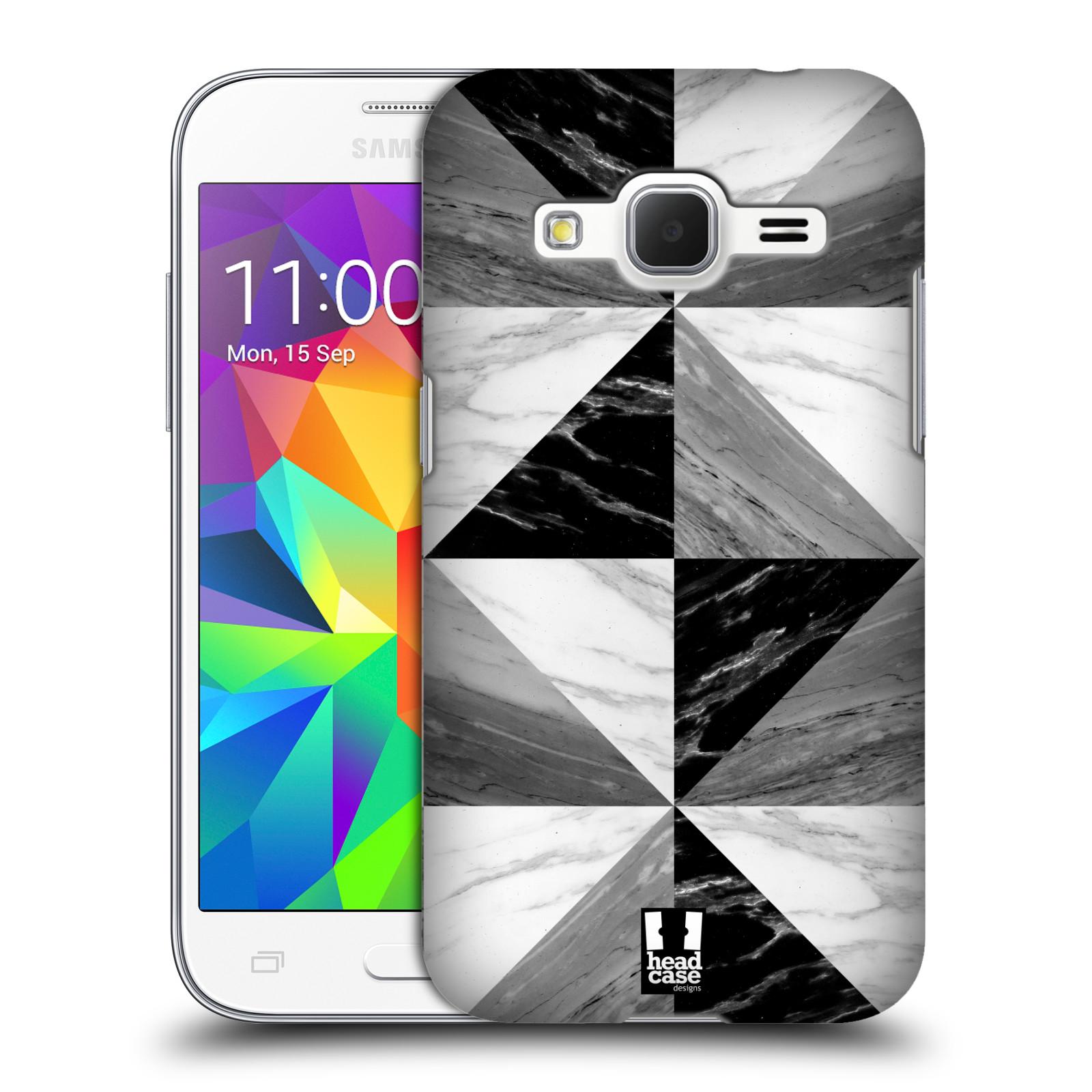 Plastové pouzdro na mobil Samsung Galaxy Core Prime LTE - Head Case - Mramor triangl (Plastový kryt či obal na mobilní telefon s motivem Mramor triangl pro Samsung Galaxy Core Prime LTE SM-G360)