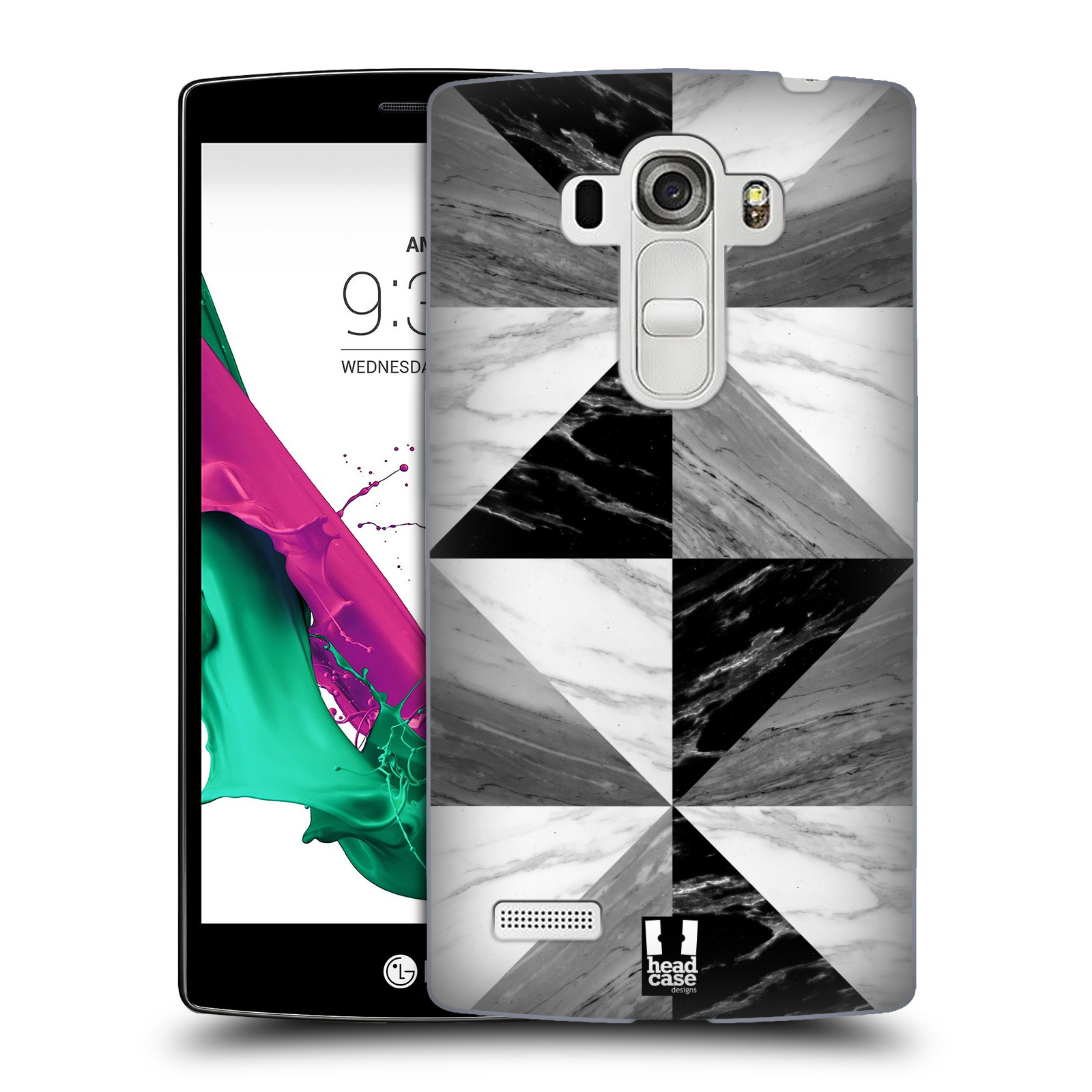 Plastové pouzdro na mobil LG G4s - Head Case - Mramor triangl