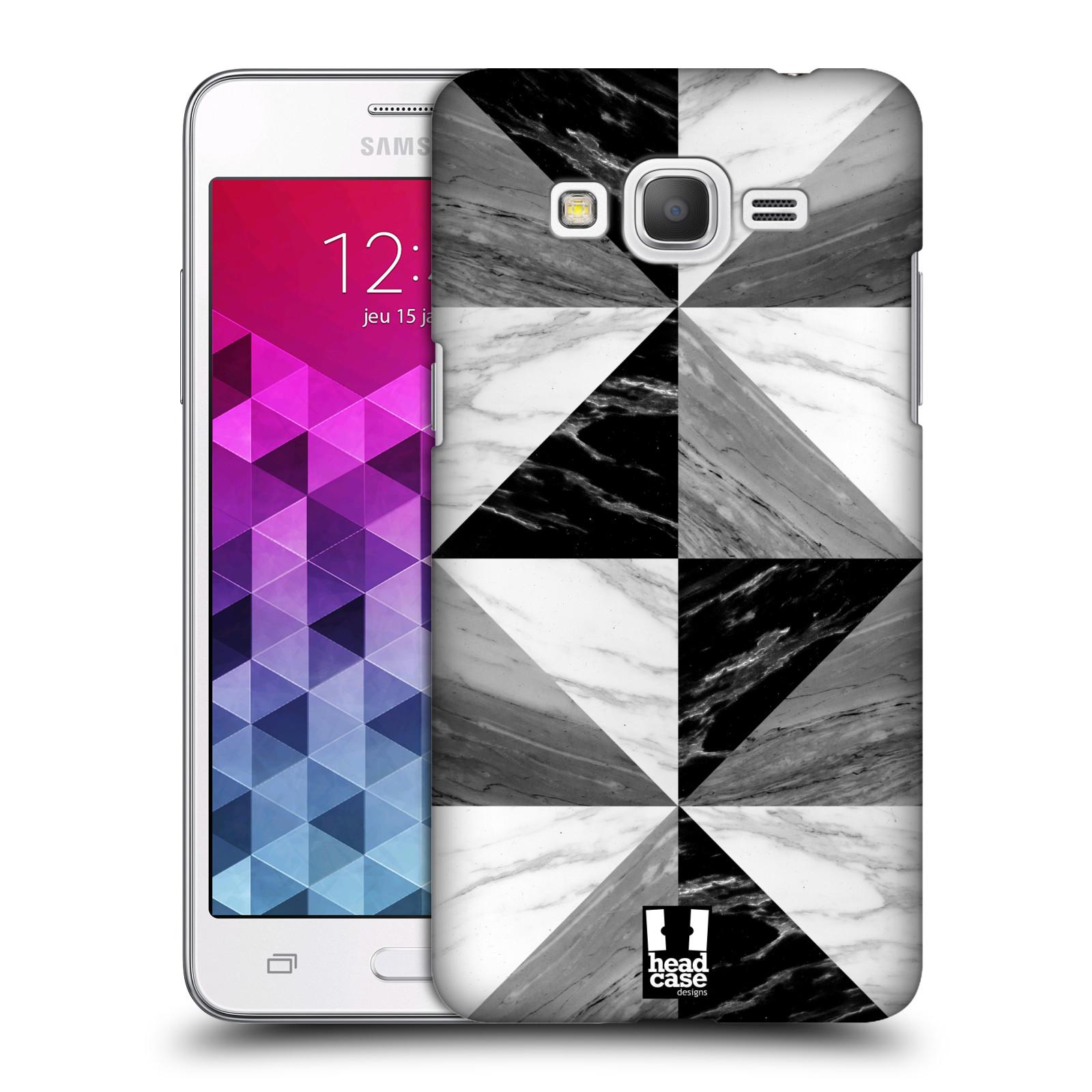 Plastové pouzdro na mobil Samsung Galaxy Grand Prime VE - Head Case - Mramor triangl