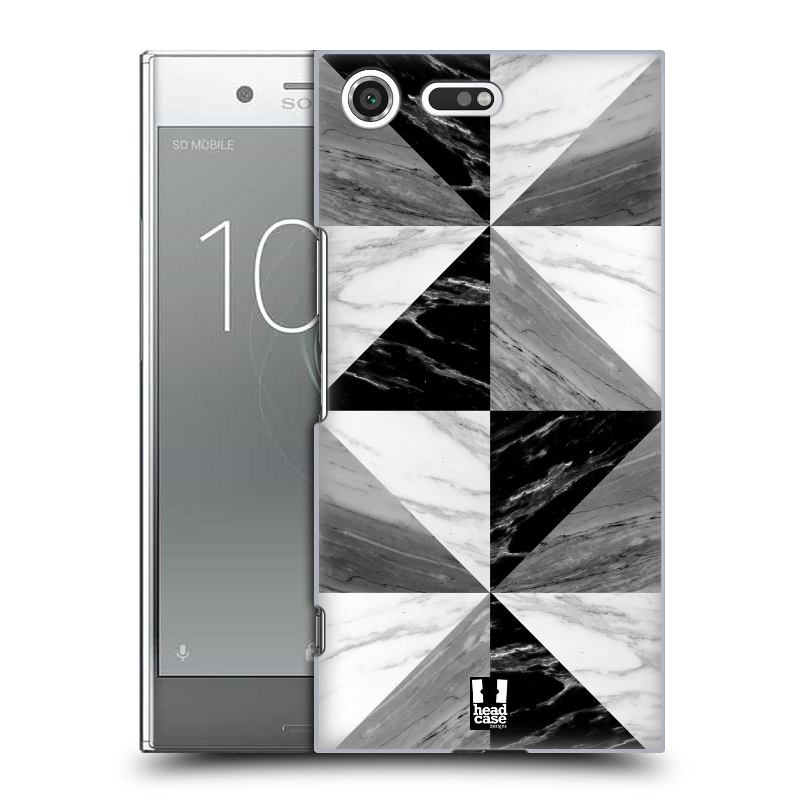 Plastové pouzdro na mobil Sony Xperia XZ Premium Head Case - Mramor triangl