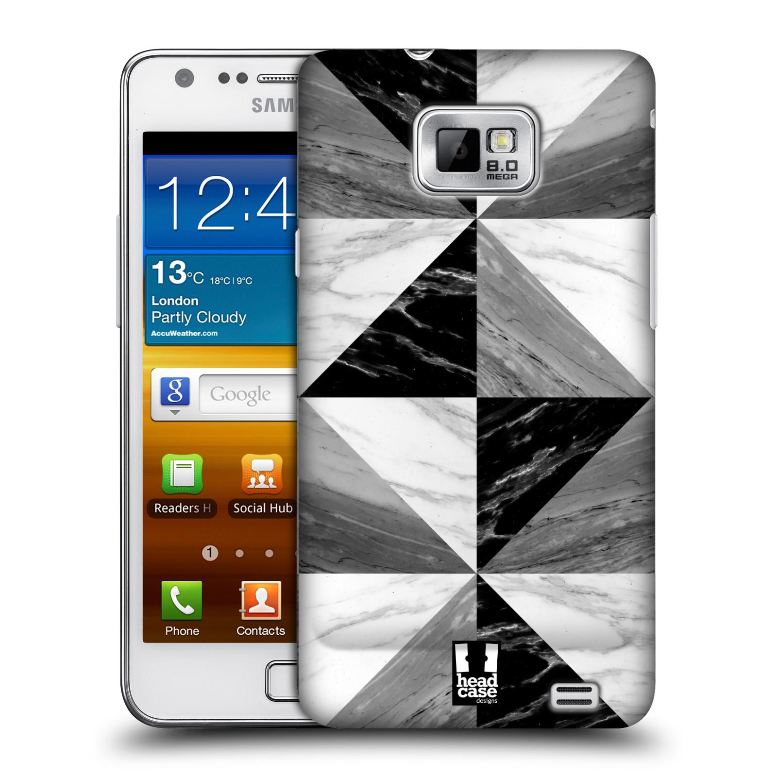 Plastové pouzdro na mobil Samsung Galaxy S II - Head Case - Mramor triangl
