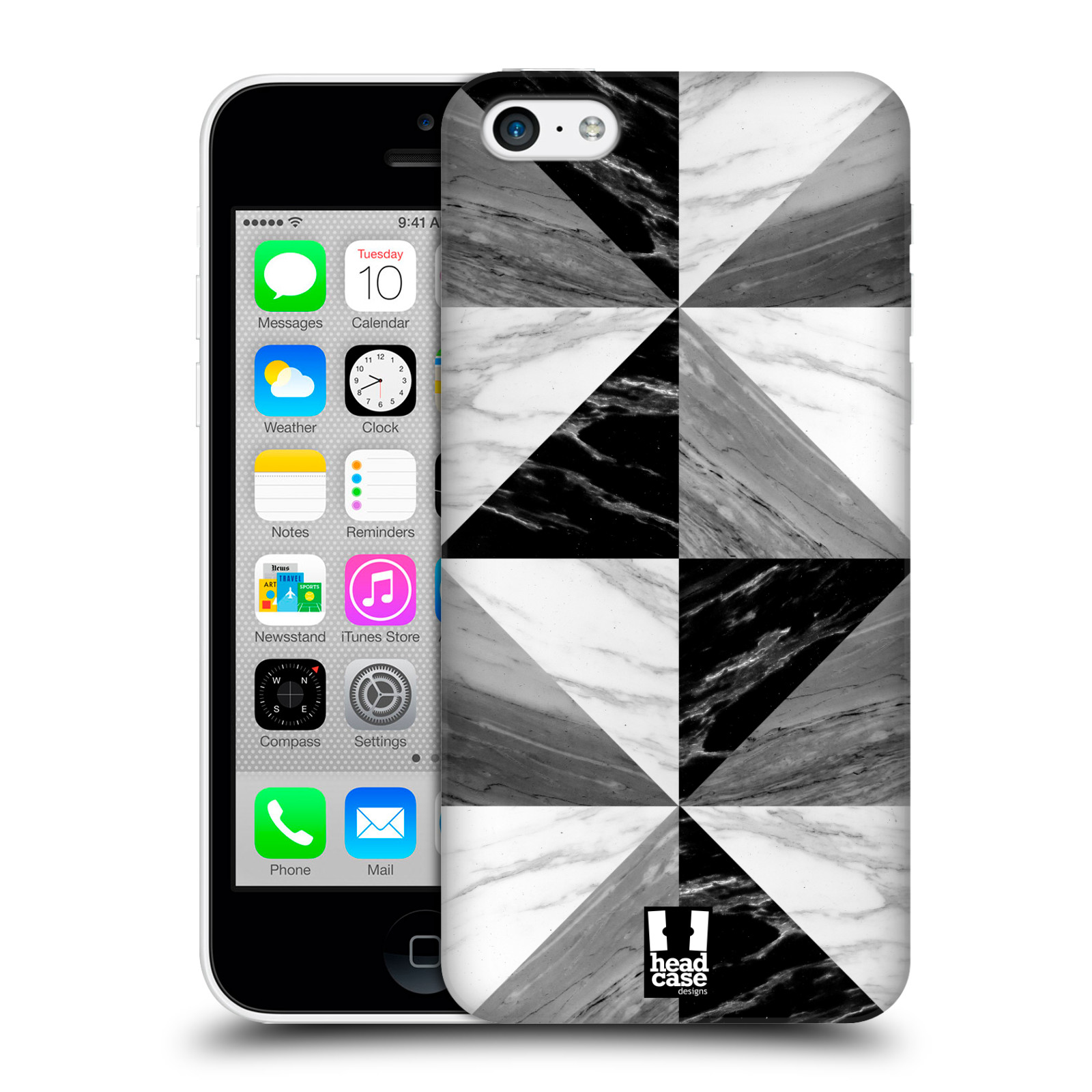 Plastové pouzdro na mobil Apple iPhone 5C - Head Case - Mramor triangl