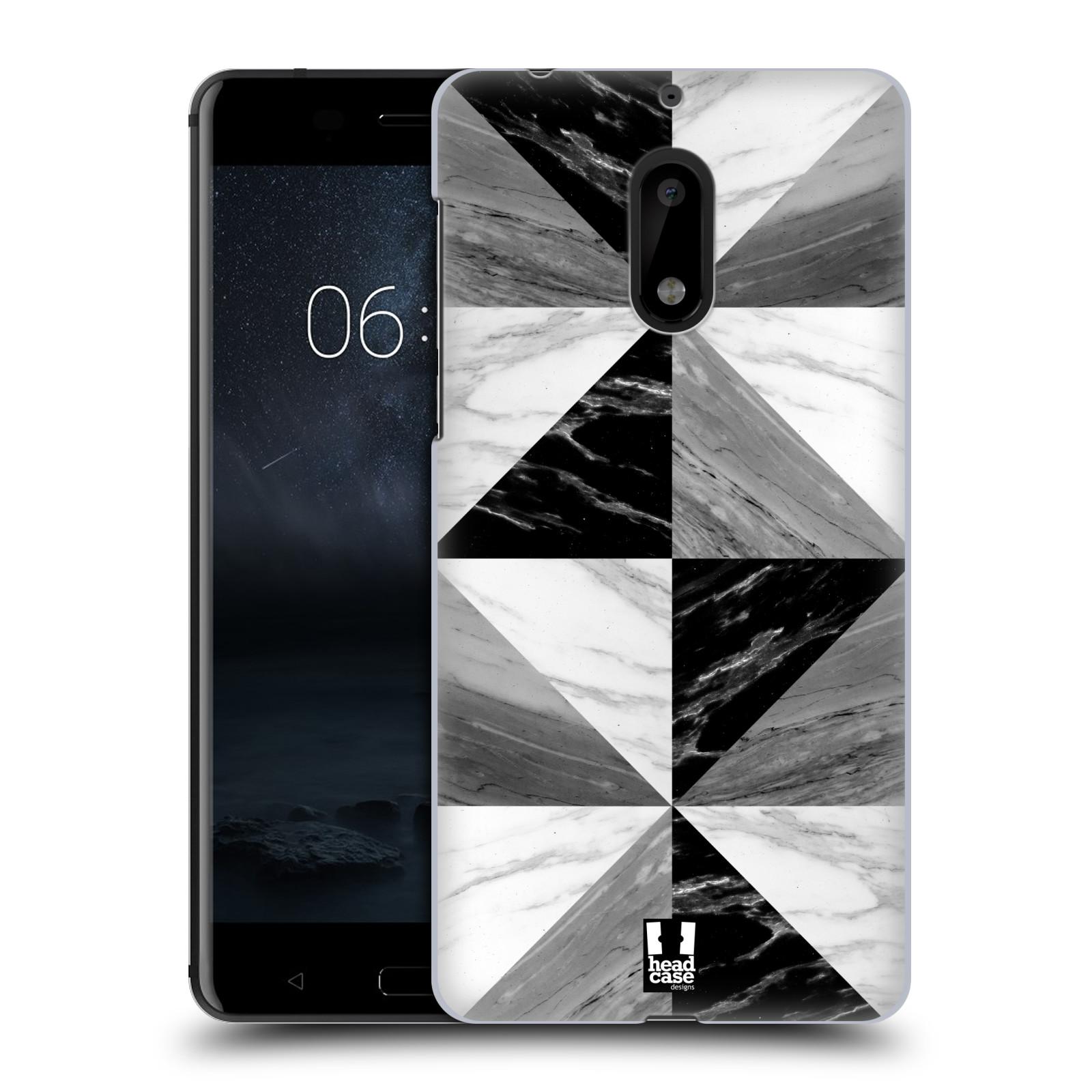 Plastové pouzdro na mobil Nokia 6 - Head Case - Mramor triangl (Plastový kryt či obal na mobilní telefon s motivem Mramor triangl pro Nokia 6 (Dual SIM))