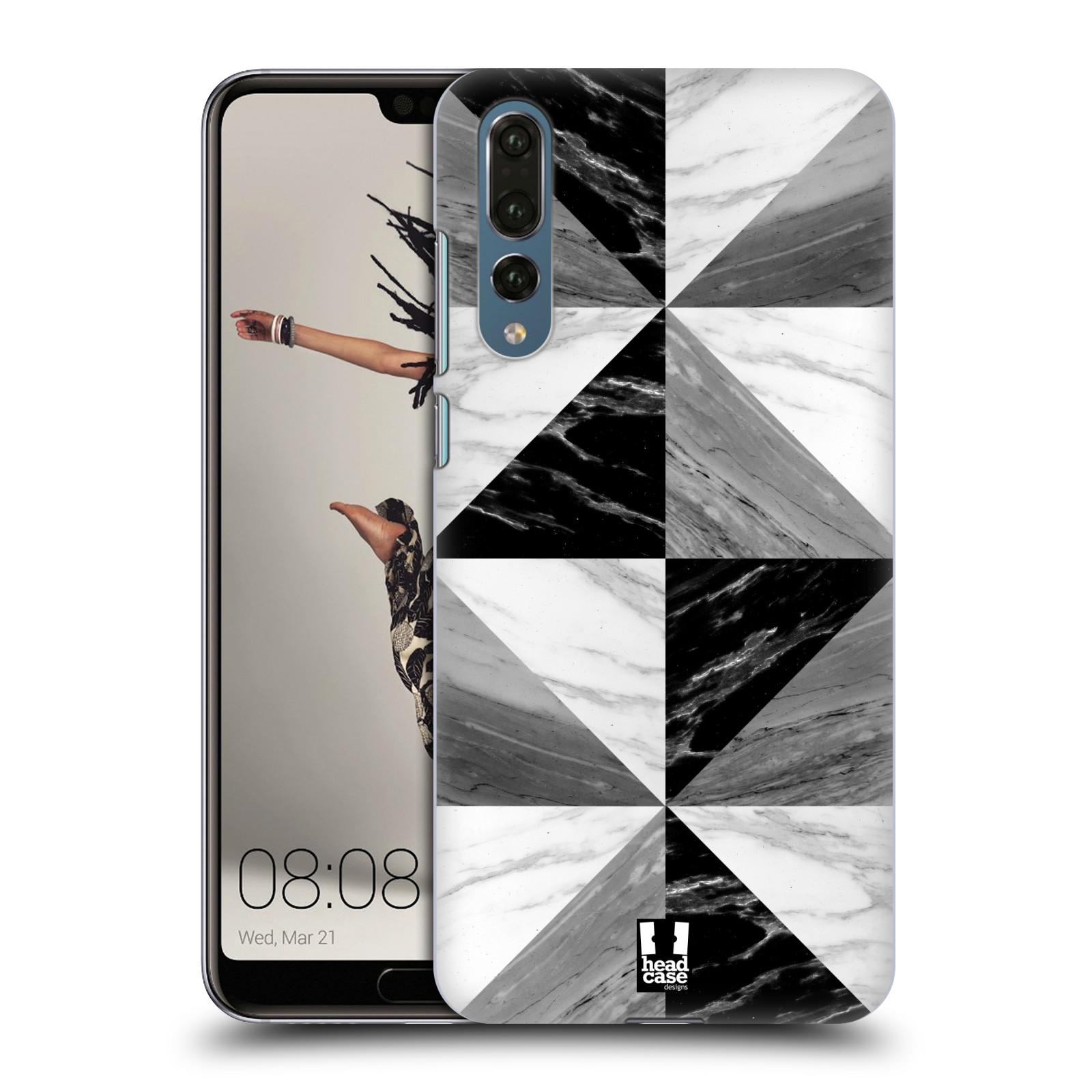Plastové pouzdro na mobil Huawei P20 Pro - Head Case - Mramor triangl (Plastový kryt či obal na mobilní telefon Huawei P20 Pro Dual Sim s motivem Mramor triangl)