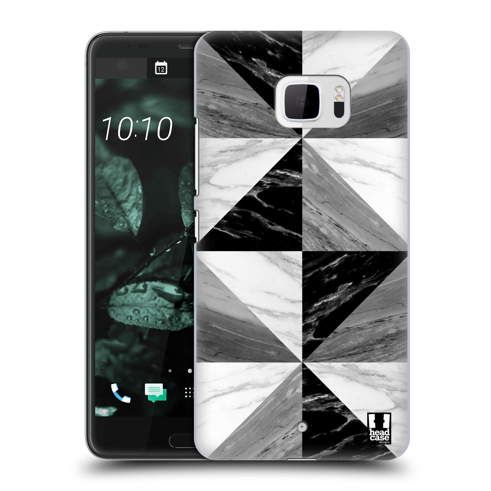 Plastové pouzdro na mobil HTC U Ultra Head Case - Mramor triangl (Plastový kryt či obal na mobilní telefon s motivem Mramor triangl pro HTC U Ultra (99HALT015-00))