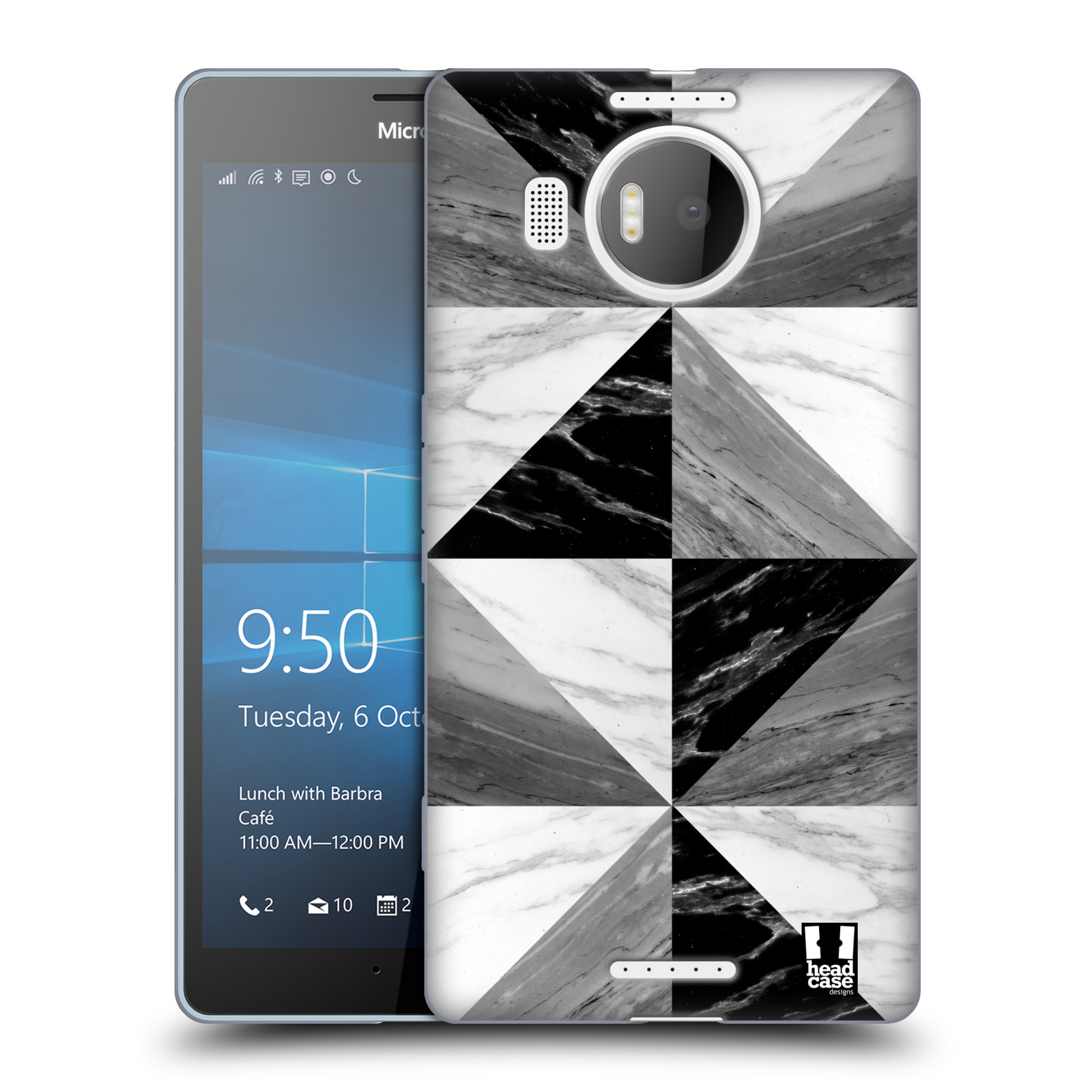 Silikonové pouzdro na mobil Microsoft Lumia 950 XL - Head Case - Mramor triangl