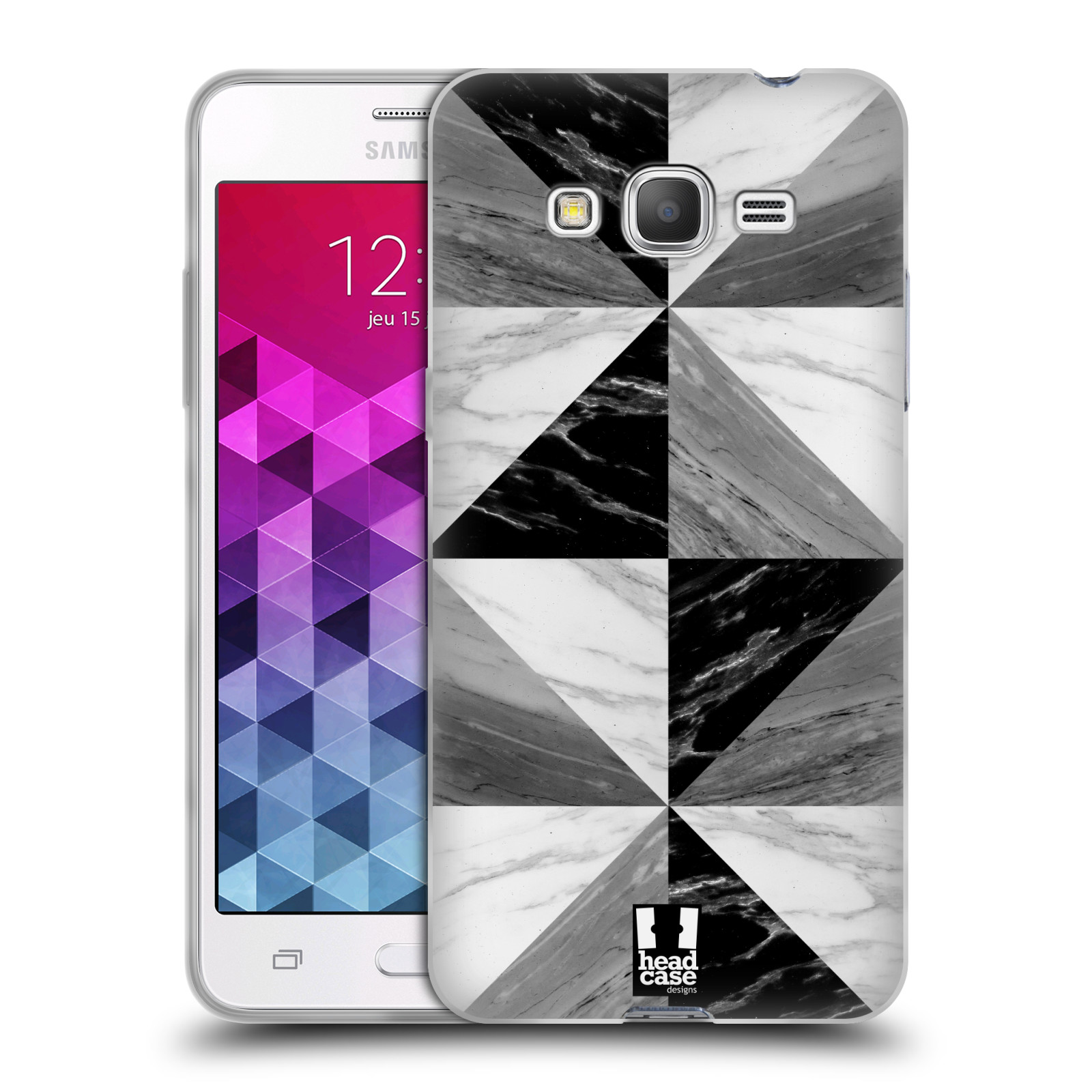 Silikonové pouzdro na mobil Samsung Galaxy Grand Prime - Head Case - Mramor triangl