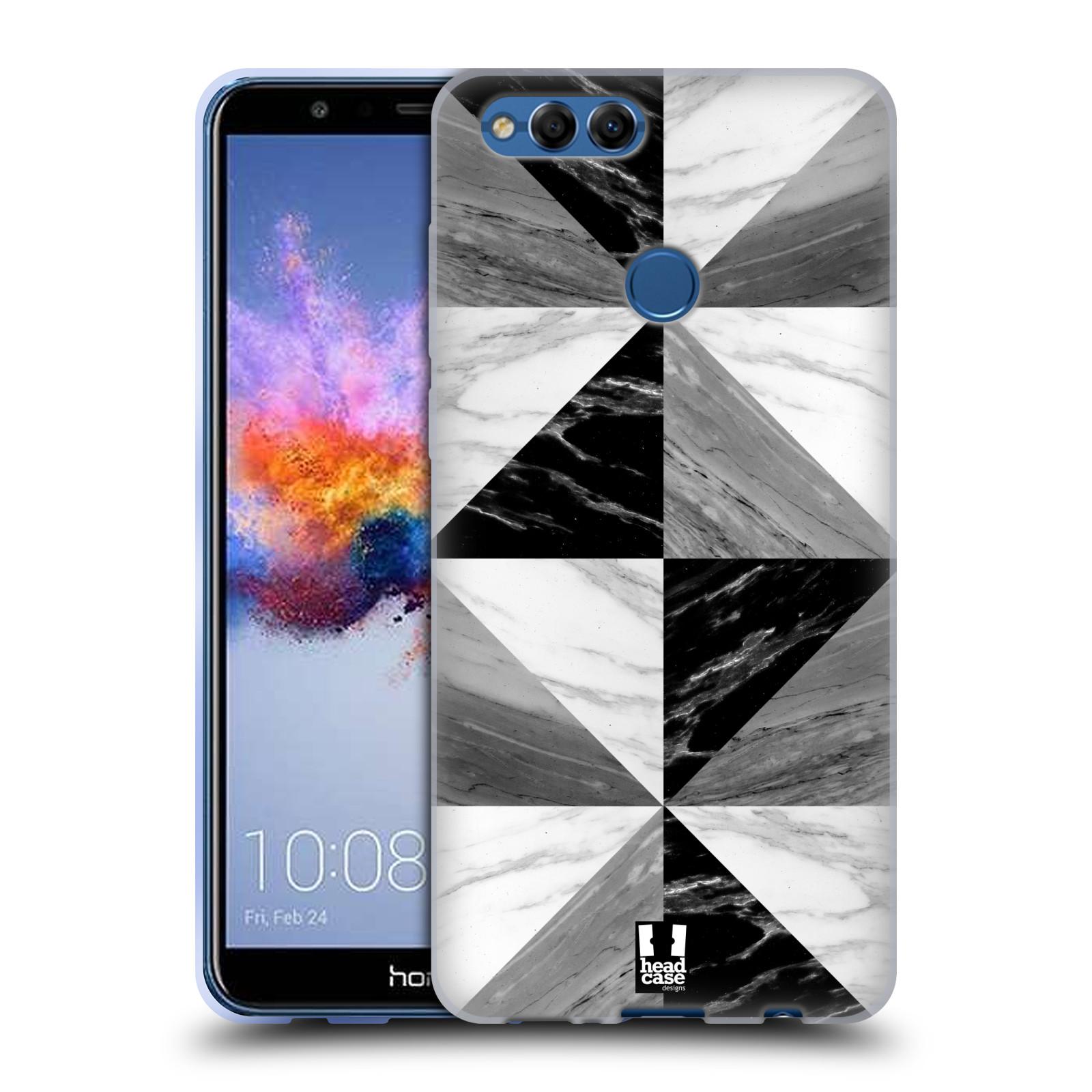 Silikonové pouzdro na mobil Honor 7X - Head Case - Mramor triangl