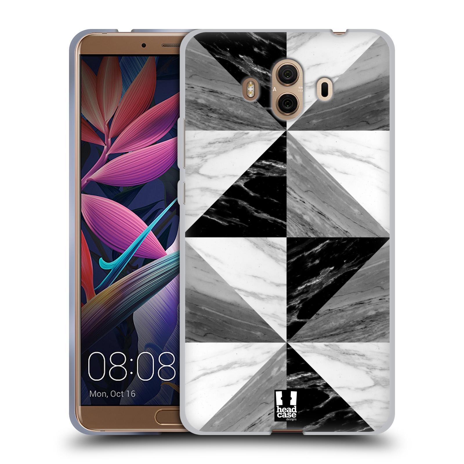 Silikonové pouzdro na mobil Huawei Mate 10 - Head Case - Mramor triangl