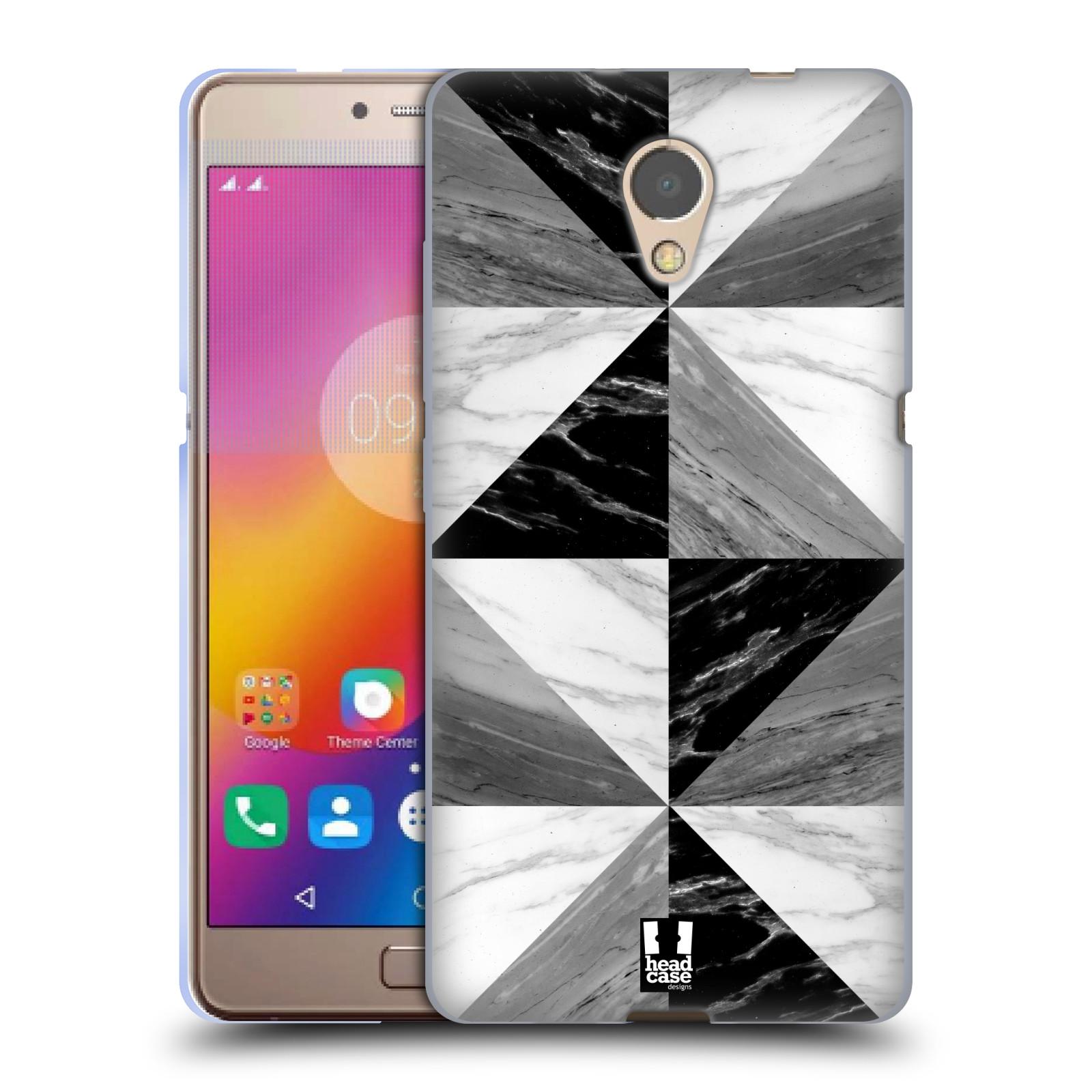 Silikonové pouzdro na mobil Lenovo P2 - Head Case - Mramor triangl