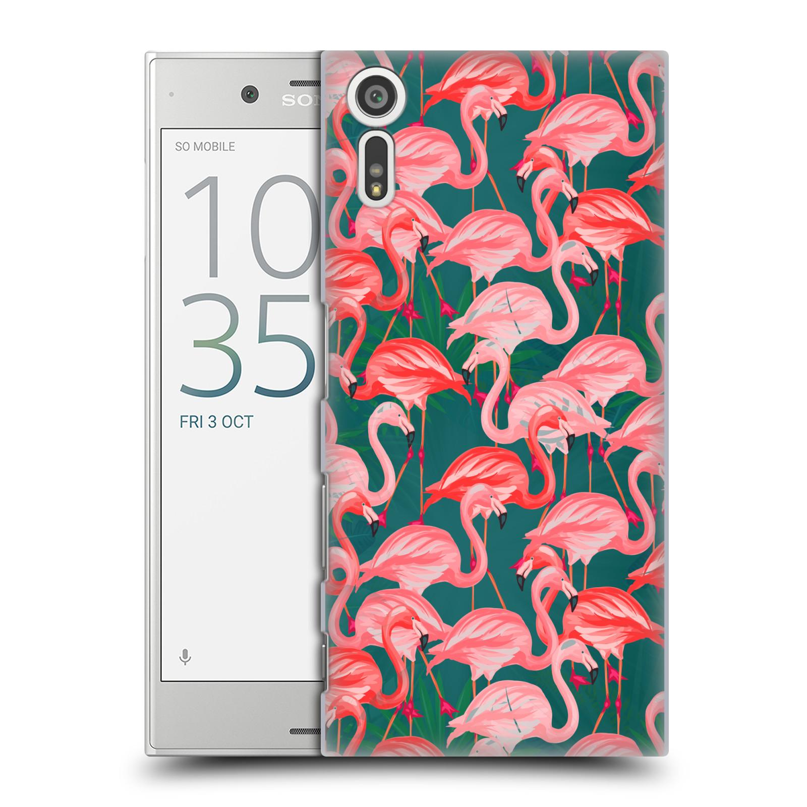 Plastové pouzdro na mobil Sony Xperia XZ - Head Case - Plameňáci (Plastový kryt či obal na mobilní telefon s motivem Plameňáci pro Sony Xperia XZ F8331 / Sony Xperia XZ Dual F8332)