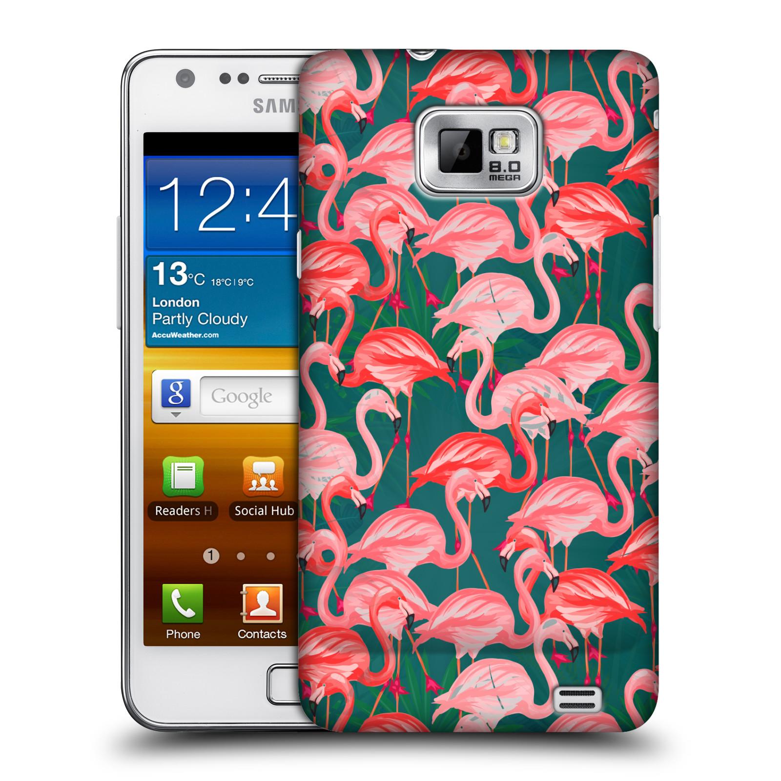 Plastové pouzdro na mobil Samsung Galaxy S II - Head Case - Plameňáci