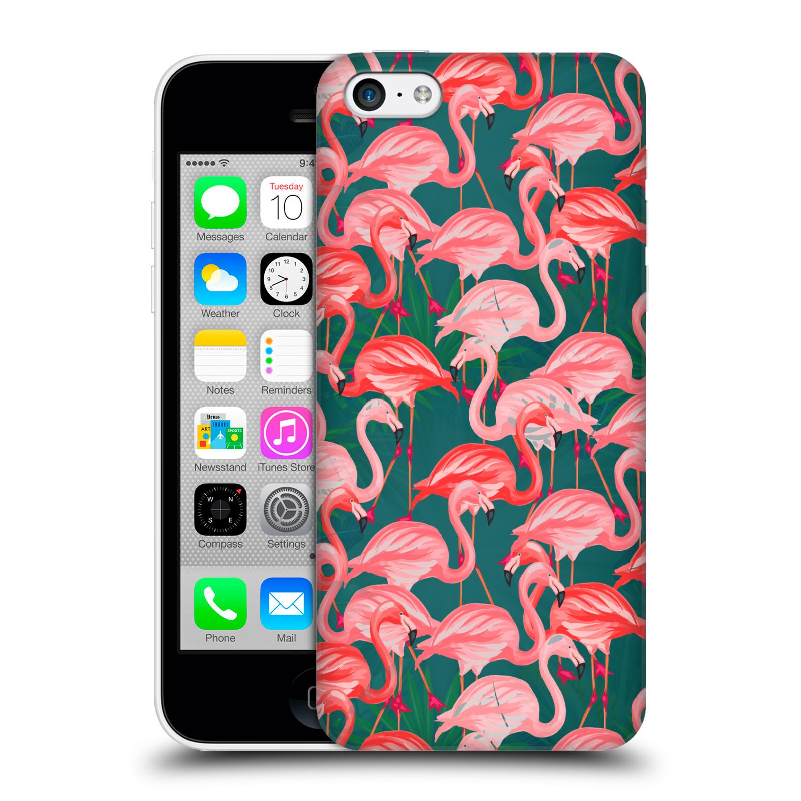 Plastové pouzdro na mobil Apple iPhone 5C - Head Case - Plameňáci