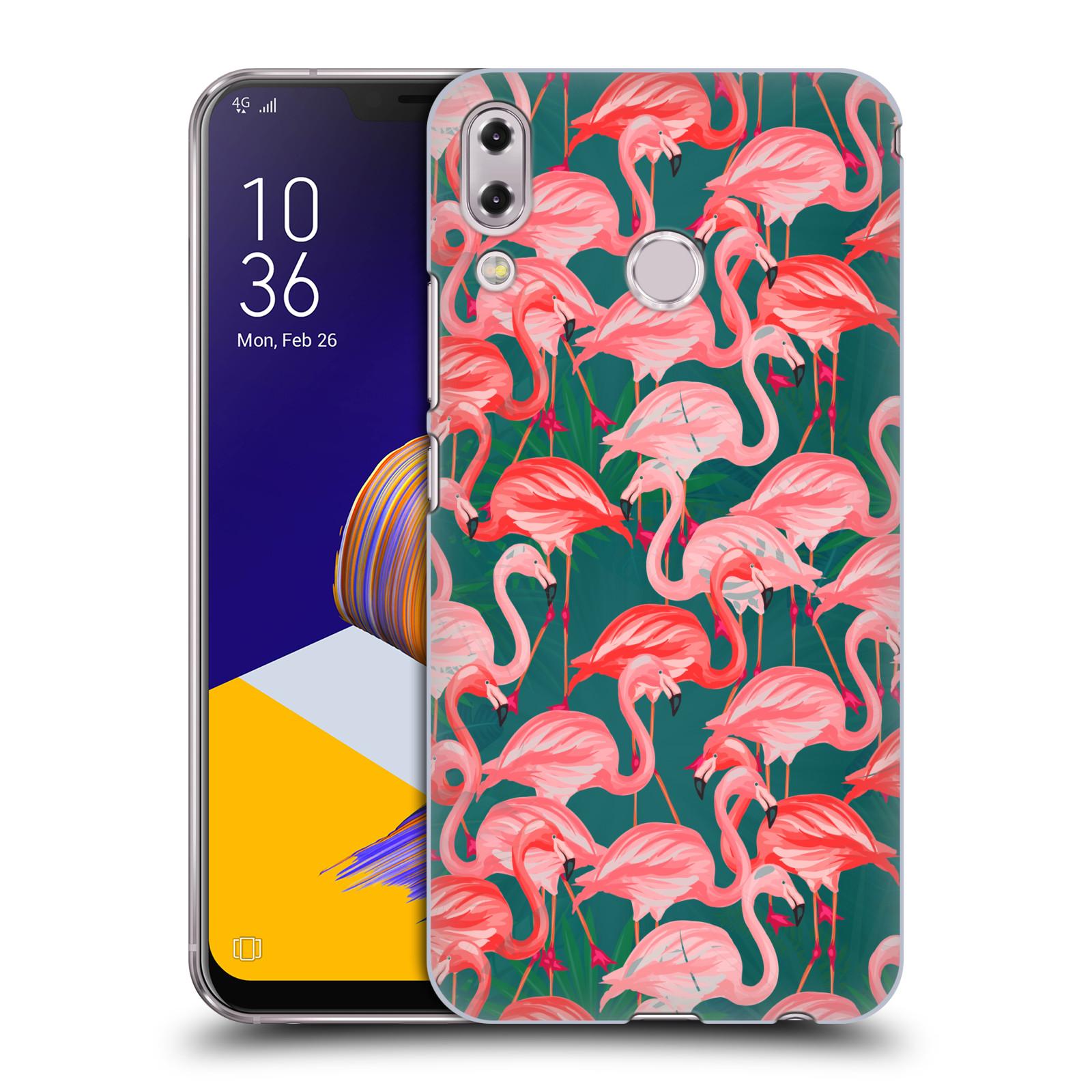 Plastové pouzdro na mobil Asus Zenfone 5z ZS620KL - Head Case - Plameňáci (Plastový kryt či obal na mobilní telefon Asus Zenfone 5z (ZS620KL) s motivem Plameňáci)