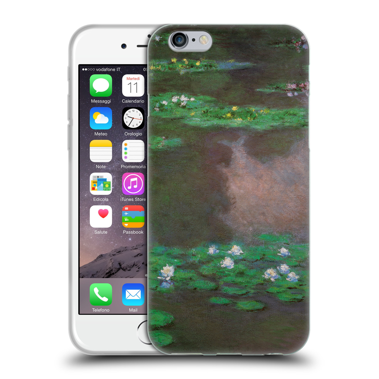 UFFICIALE-MASTERS-COLLECTION-DIPINTI-2-CASE-IN-GEL-PER-APPLE-iPHONE-TELEFONI