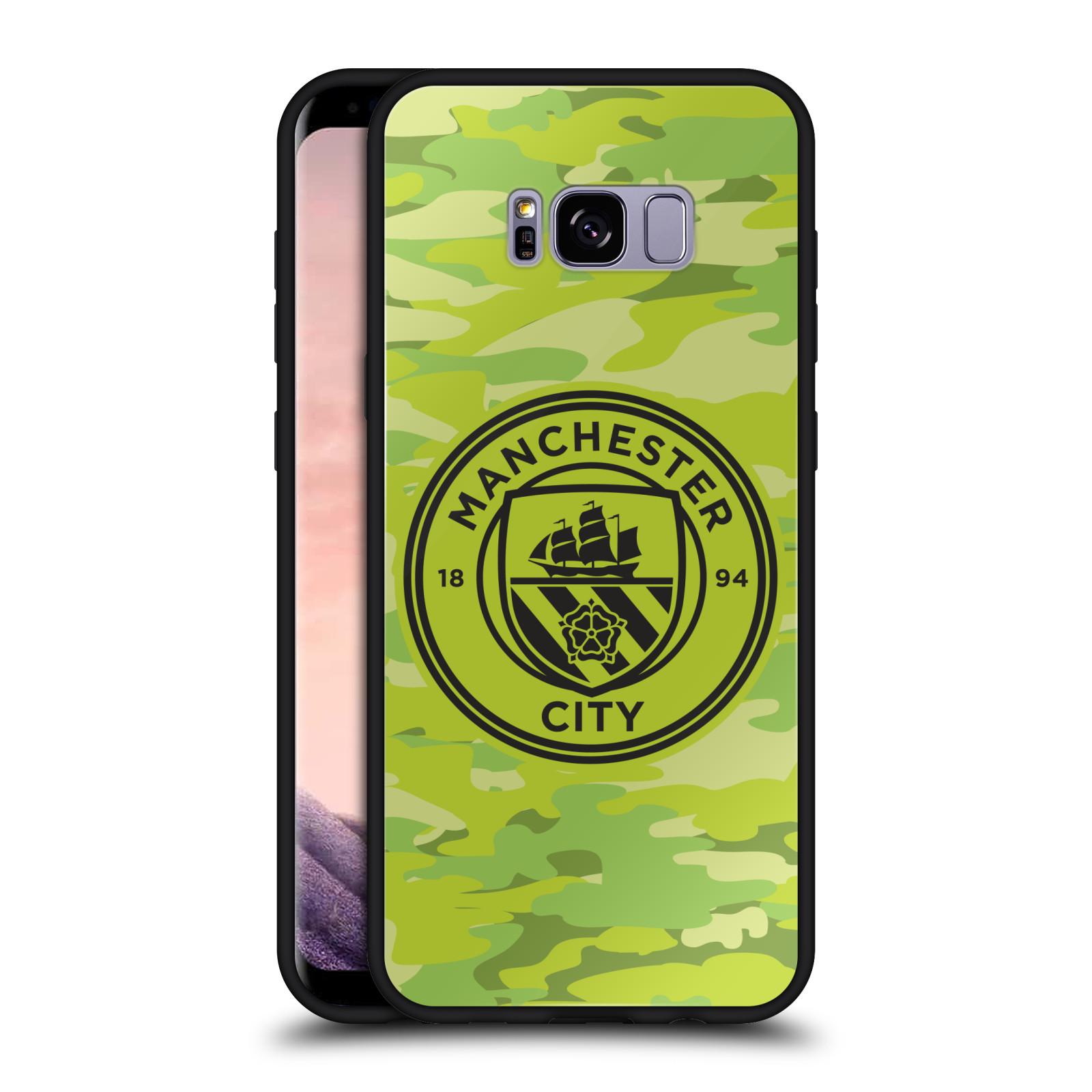 MAN-CITY-FC-BADGE-CAMOU-BLACK-HYBRID-GLASS-BACK-CASE-FOR-SAMSUNG-PHONES