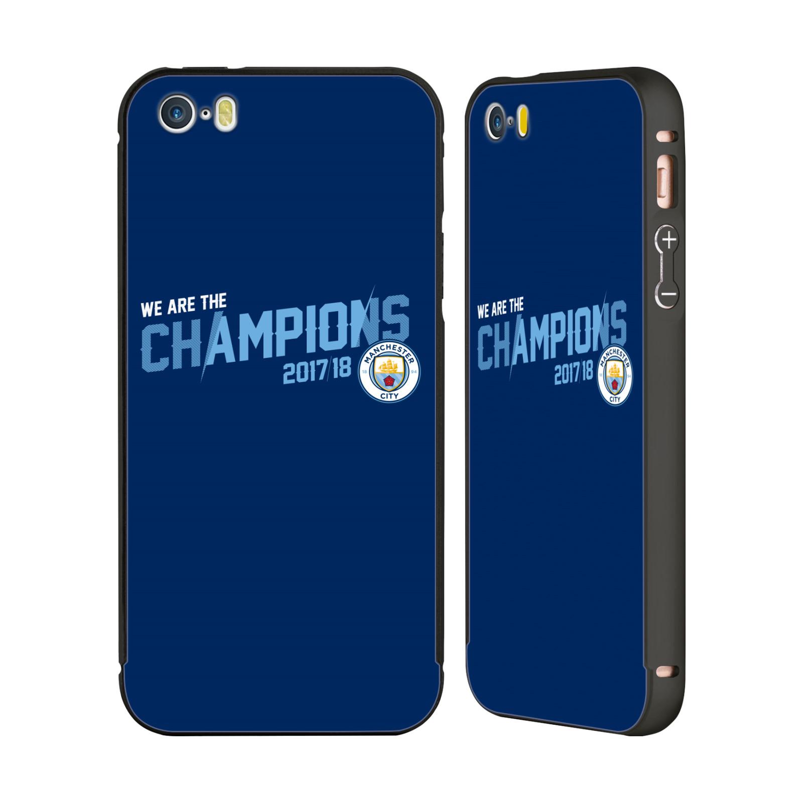 MAN-CITY-FC-2017-18-CHAMPIONS-BLACK-BUMPER-SLIDER-CASE-FOR-APPLE-iPHONE-PHONES