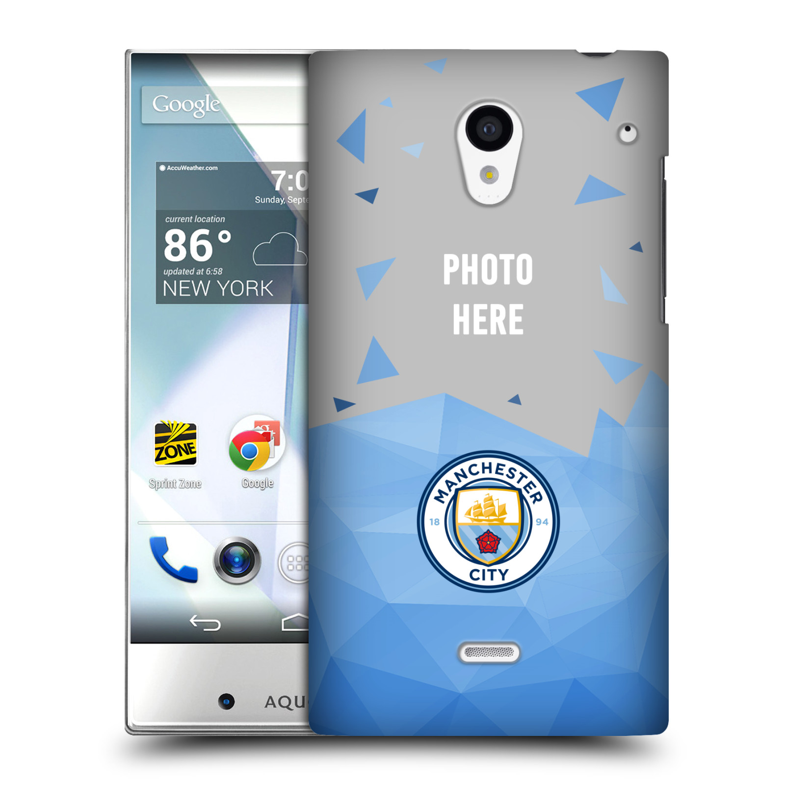 PERSONALISED-MANCHESTER-CITY-MAN-CITY-FC-2017-18-LOGO-KIT-CASE-FOR-SHARP-PHONES