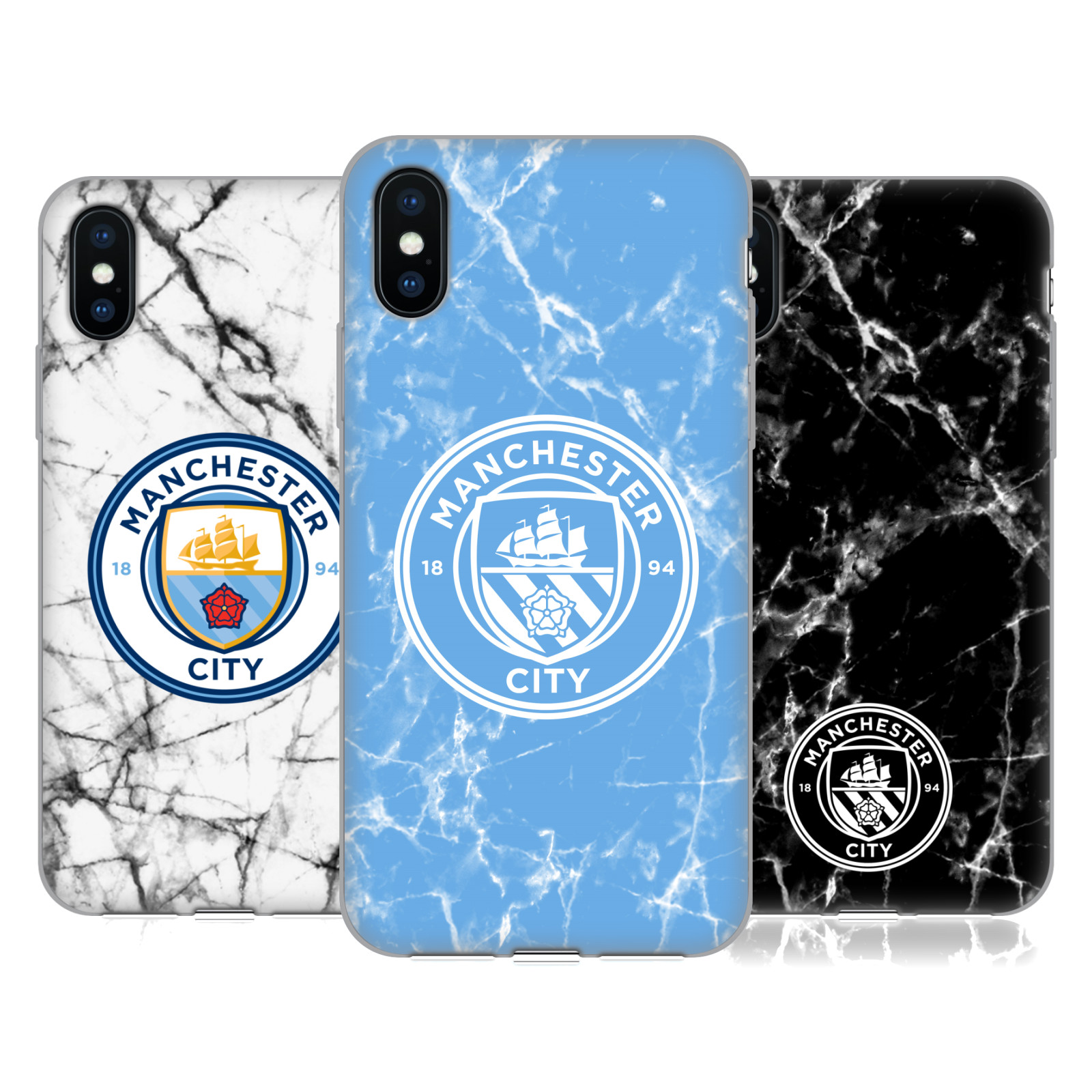 Manchester City Man City FC 2017/18 Marble Badge