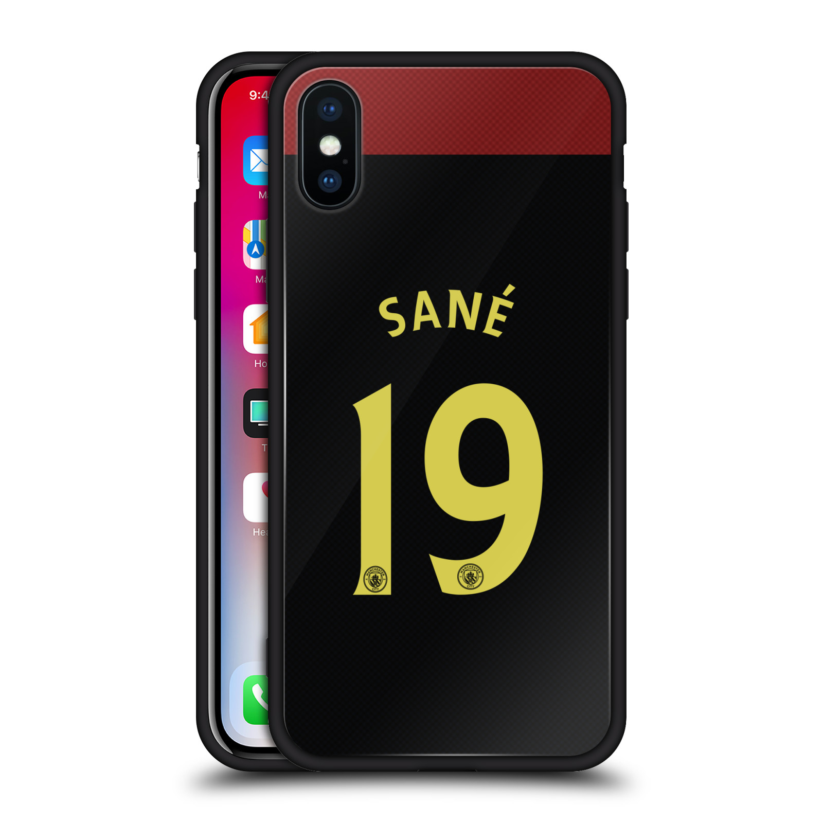 MAN-CITY-FC-AWAY-KIT-2016-17-2-NOIR-ARRIERE-EN-VERRE-HYBRIDE-POUR-iPHONE-PHONES
