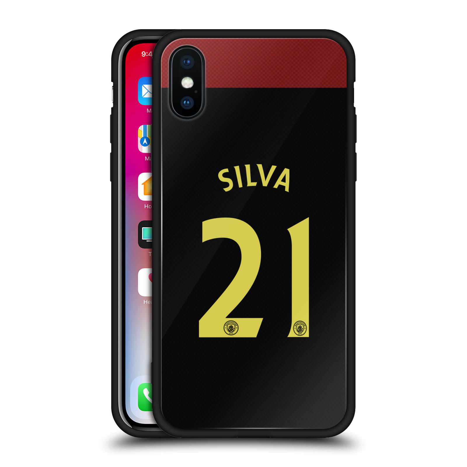 Homme-Ville-FC-Away-Kit-2016-17-2-Noir-Hybrid-Verre-Arriere-Pour-iPhone-Telephones
