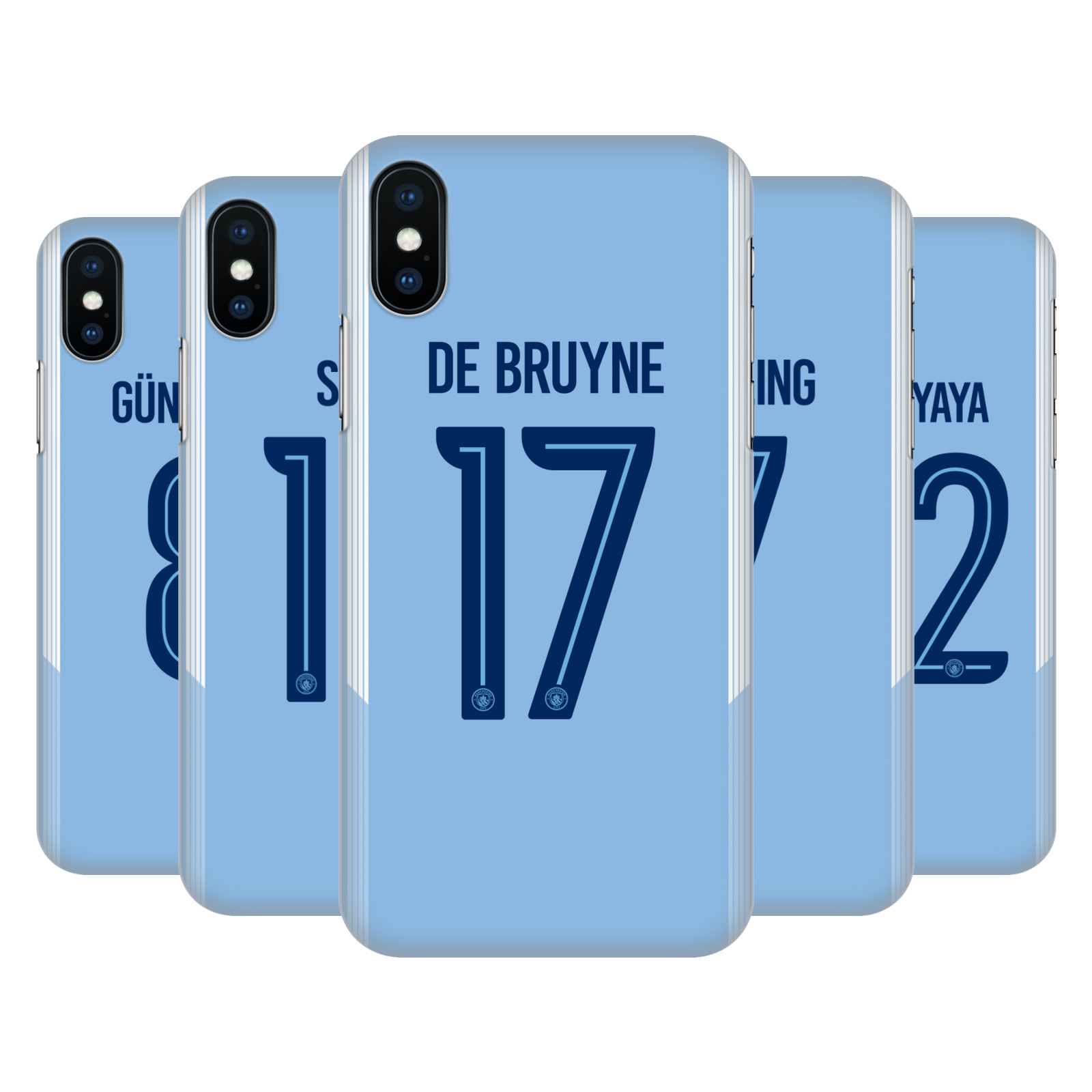 Manchester City Man City FC 2017/18 Players Home Kit Group 1