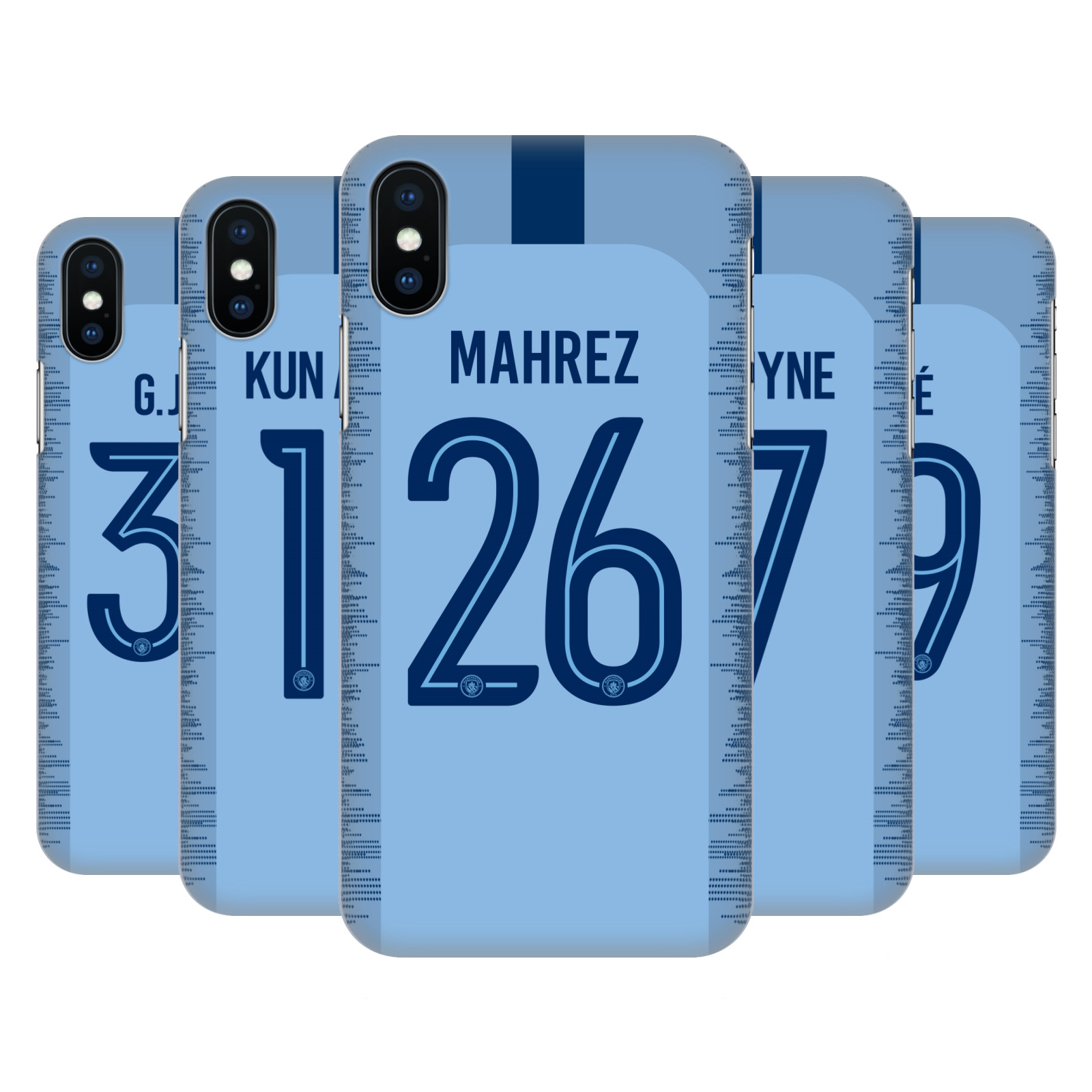 Manchester City Man City FC 2018/19 Players Home Kit Group 1
