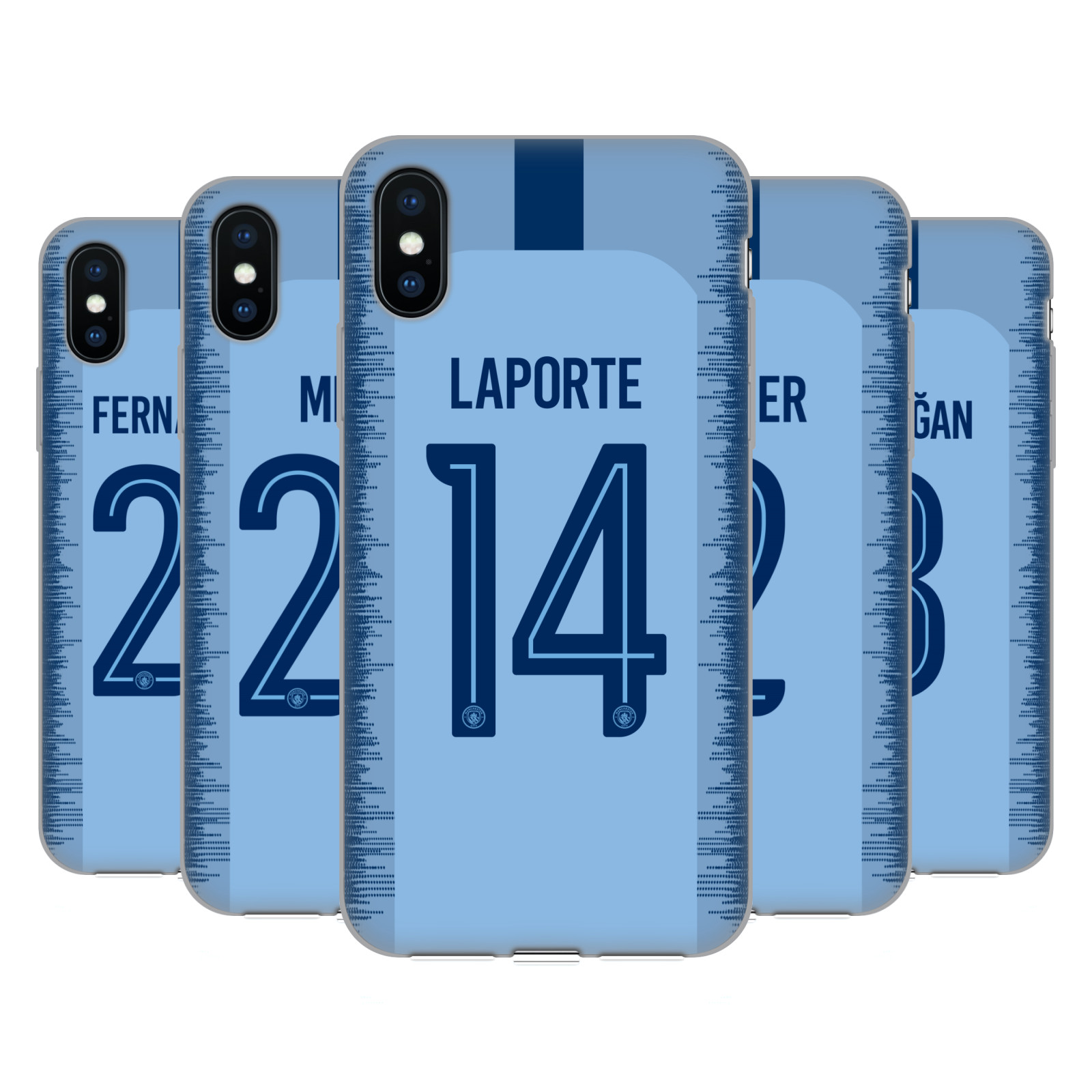 Manchester City Man City FC 2018/19 Players Home Kit Group 2